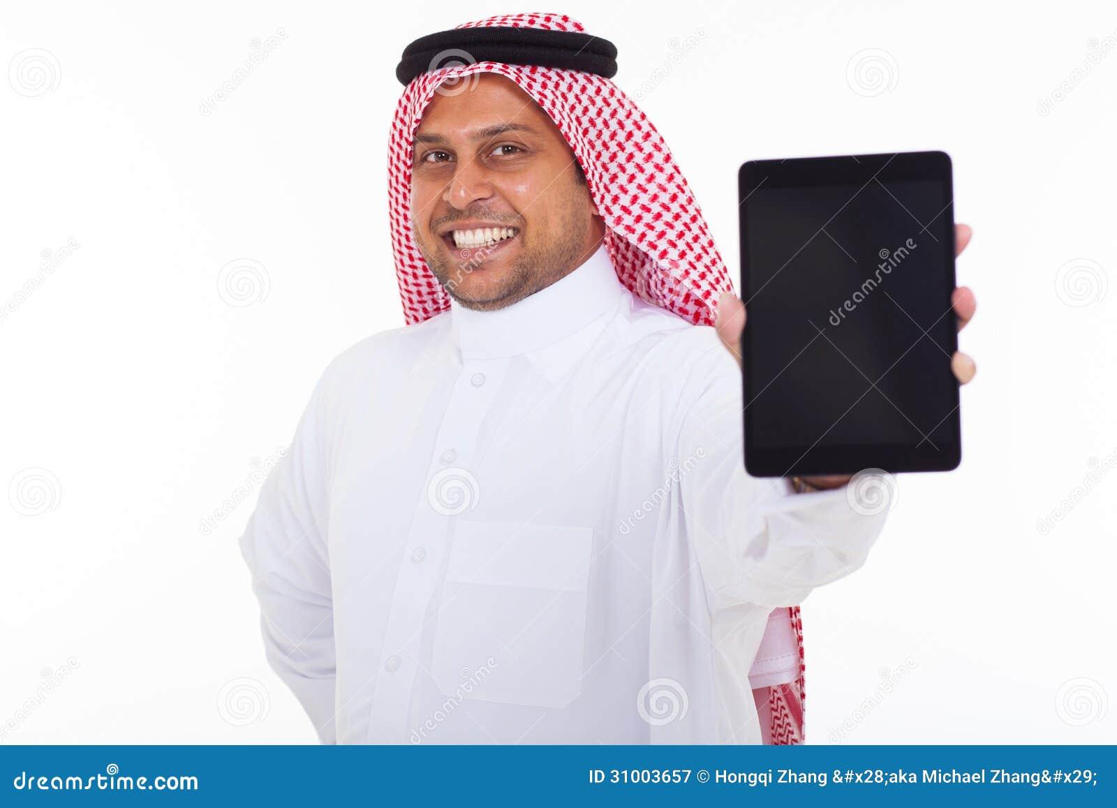 Tabuleta árabe do homem