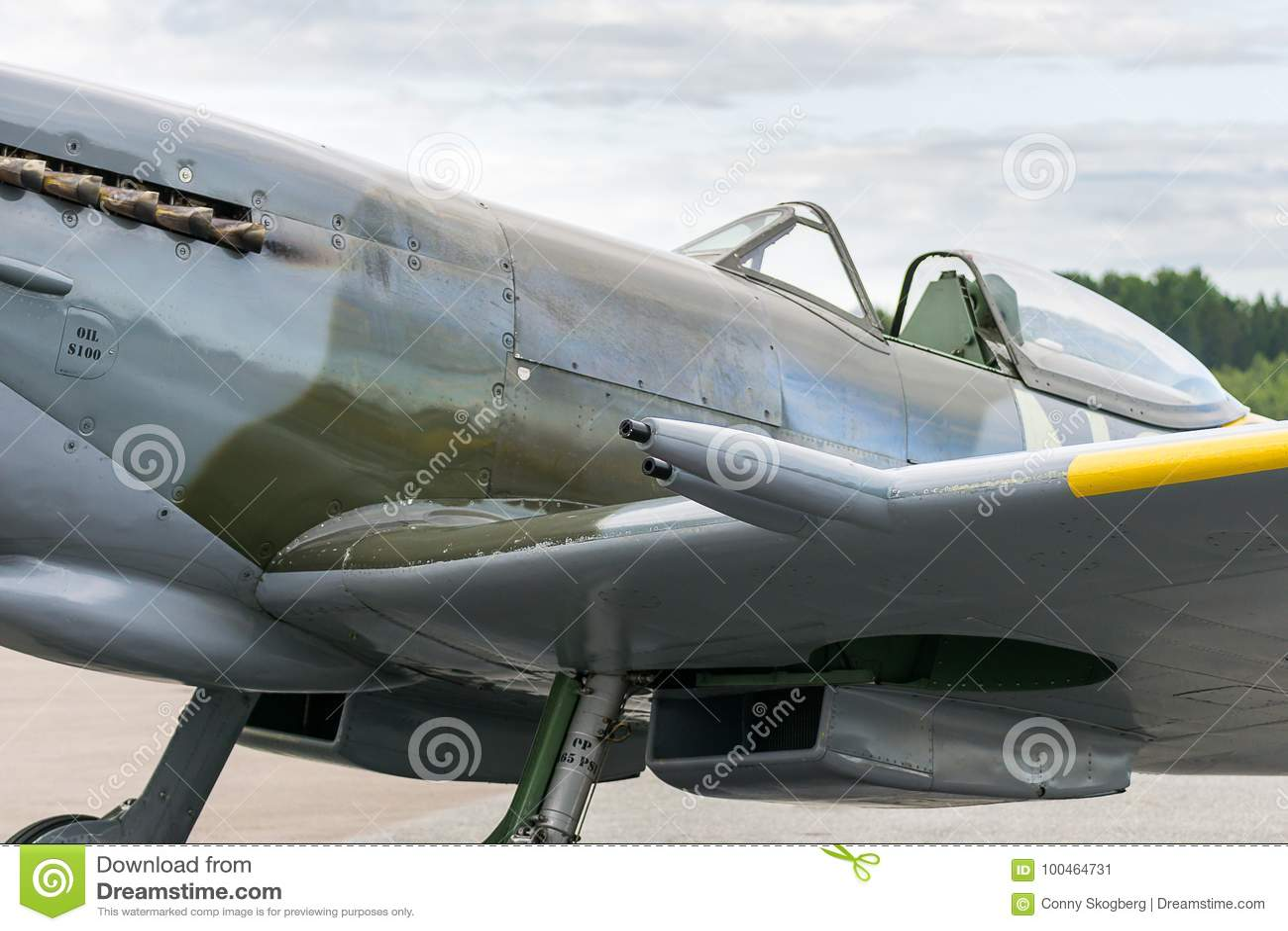 Air Show Spitfire Mk XVI Airplane Flying Editorial Photo