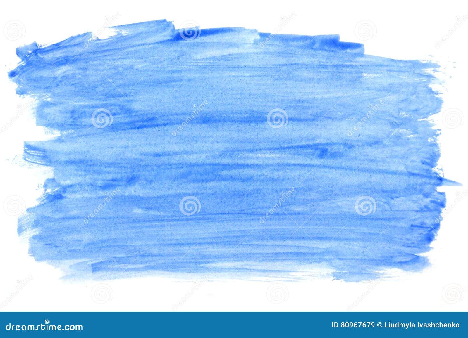 tache bleue abstraite de peinture de couleur d 39 aquarelle d 39 isolement sur un fond blanc. Black Bedroom Furniture Sets. Home Design Ideas