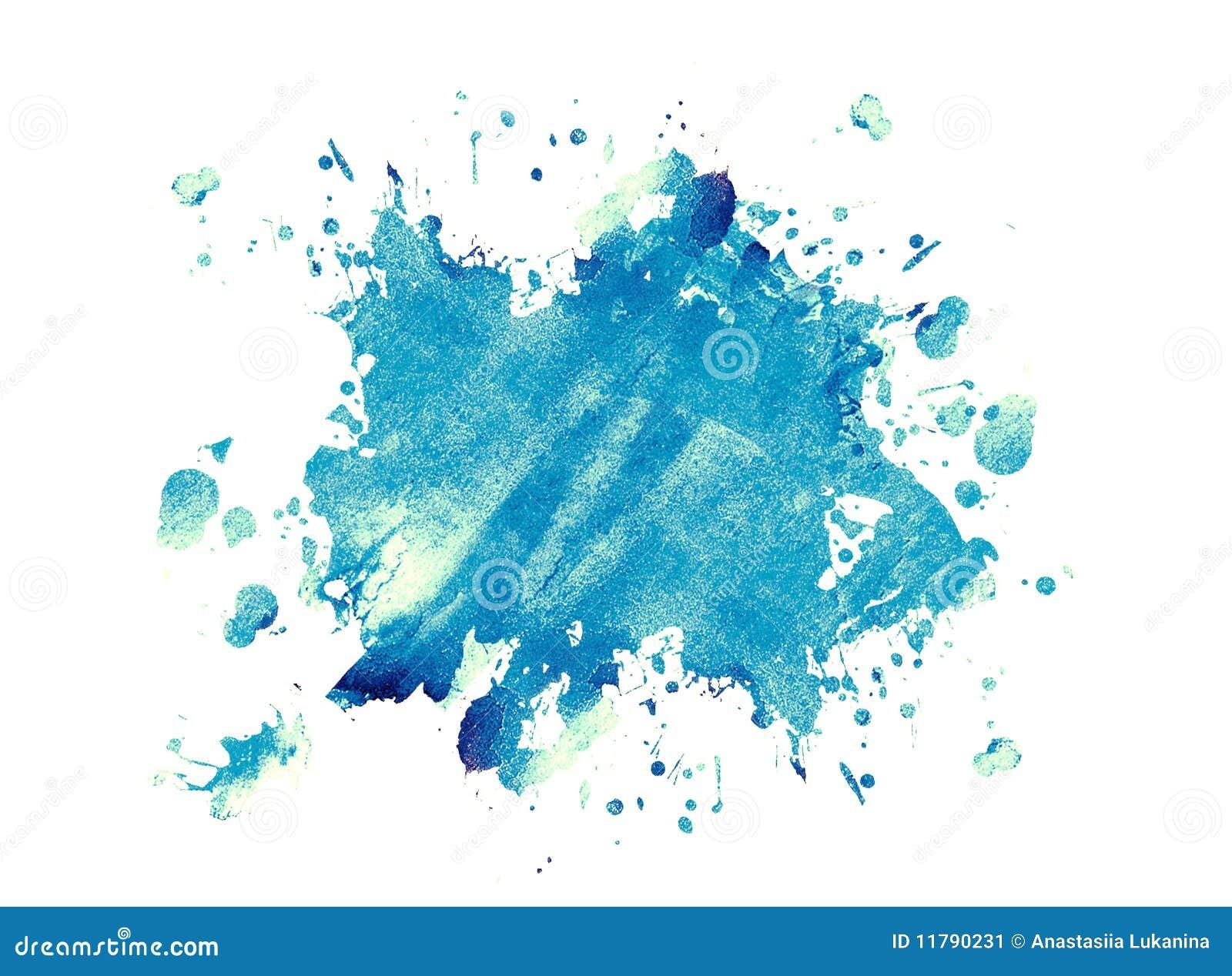 tache bleue d 39 encre image stock image 11790231. Black Bedroom Furniture Sets. Home Design Ideas