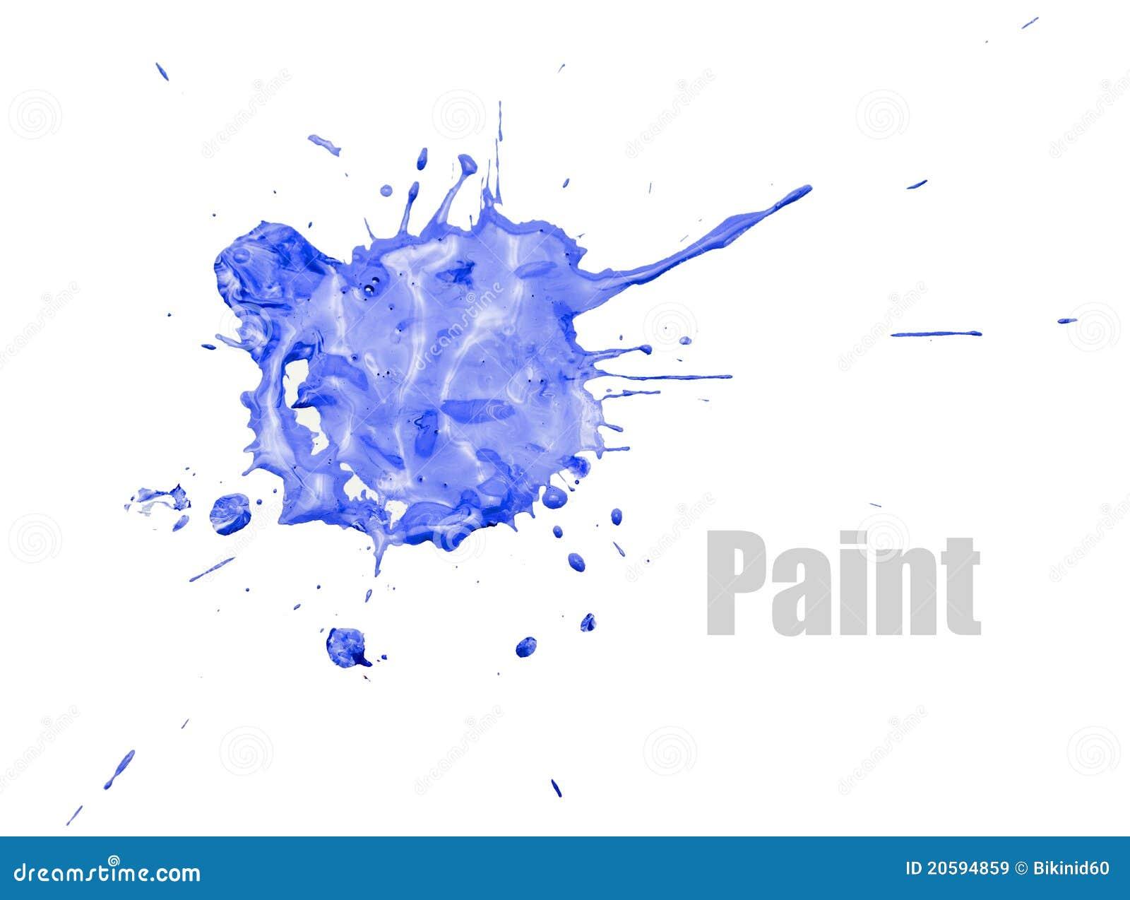 tache bleue de peinture images libres de droits image 20594859. Black Bedroom Furniture Sets. Home Design Ideas
