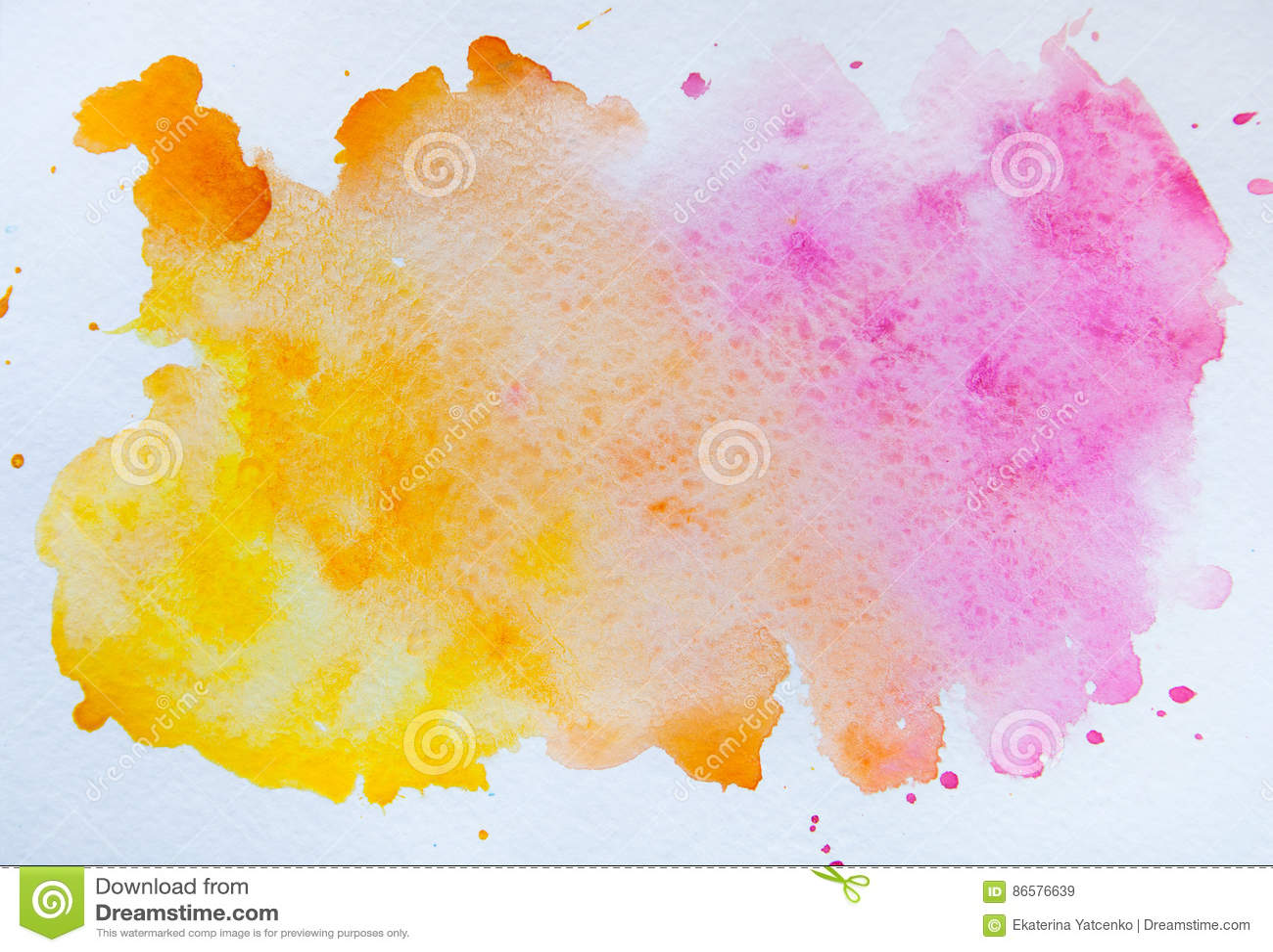 tache d 39 aquarelle d 39 isolement sur le fond blanc wa rose et orange illustration stock. Black Bedroom Furniture Sets. Home Design Ideas