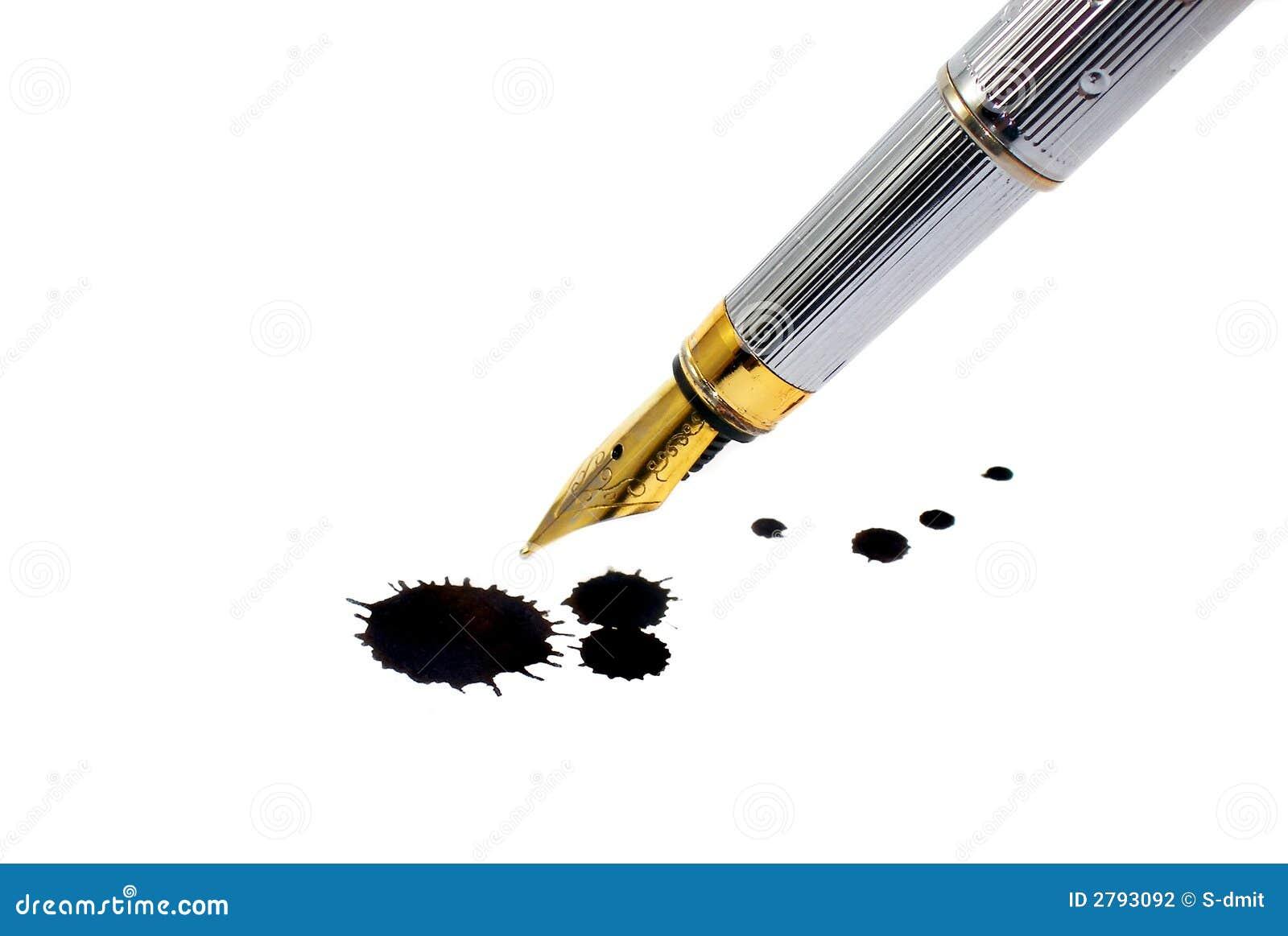 tache d 39 encre crayon lecteur et d 39 encre photo stock image du inkwell ducation 2793092. Black Bedroom Furniture Sets. Home Design Ideas