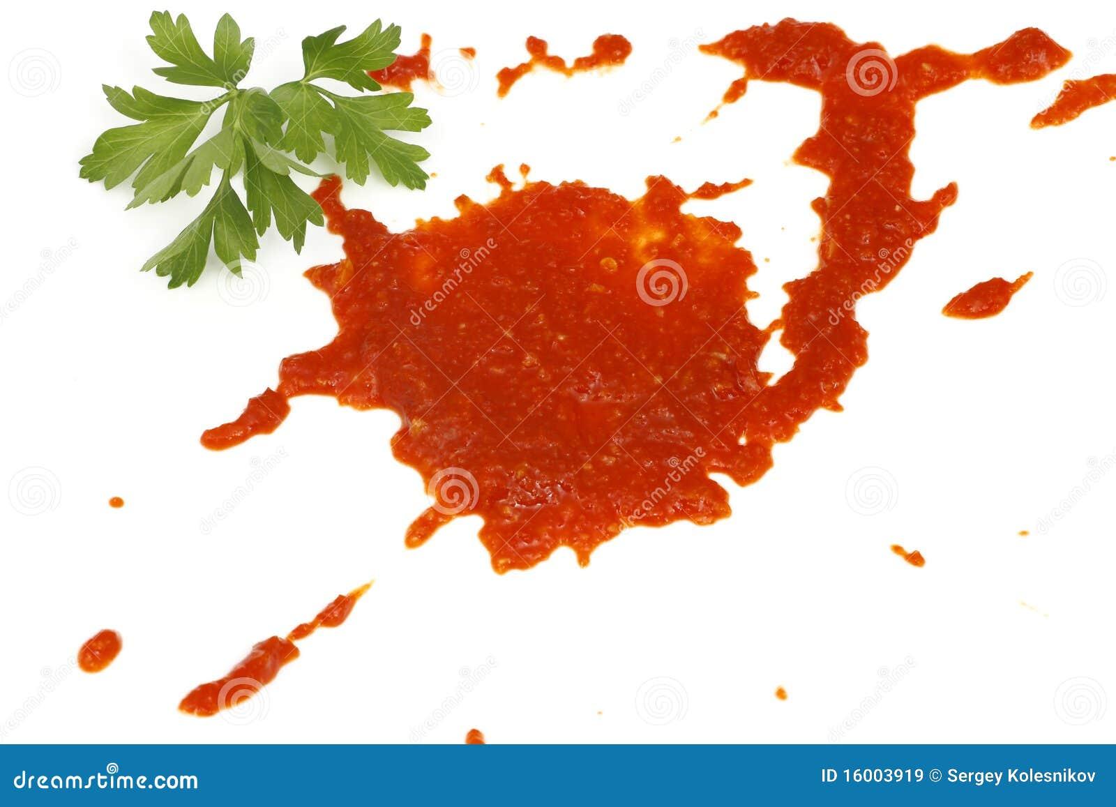 Tache de la sauce tomate image stock image du peinture - Enlever tache sauce tomate ...