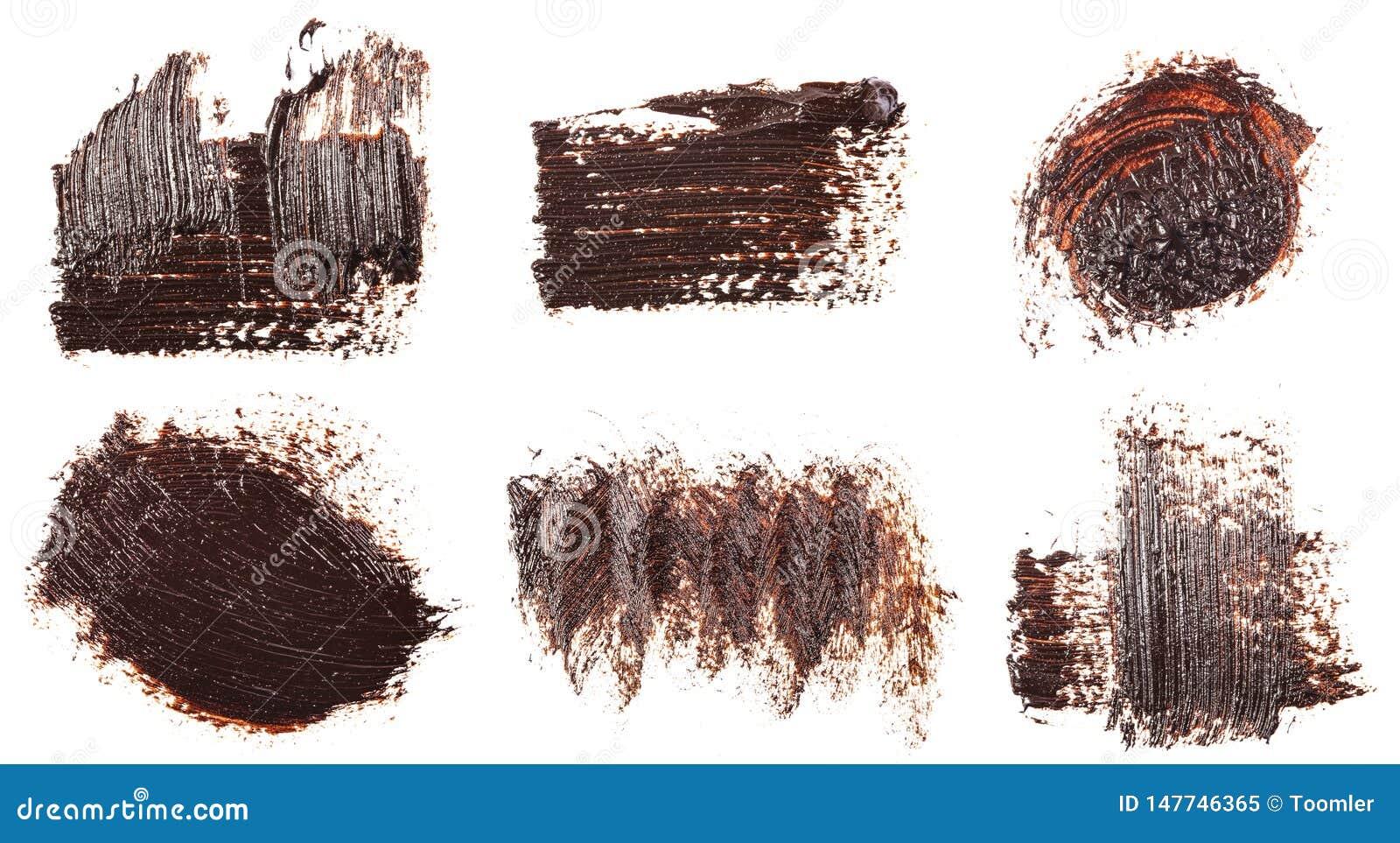Tache de peinture brune d huile sur le blanc positionnement