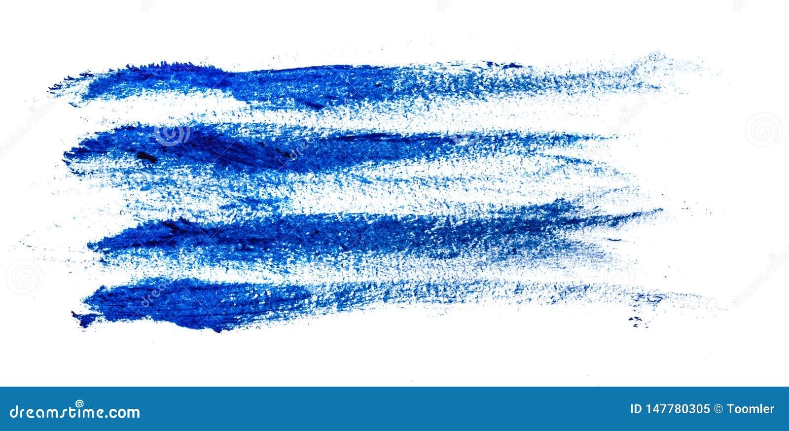 Tache de peinture ? l huile bleue sur le blanc