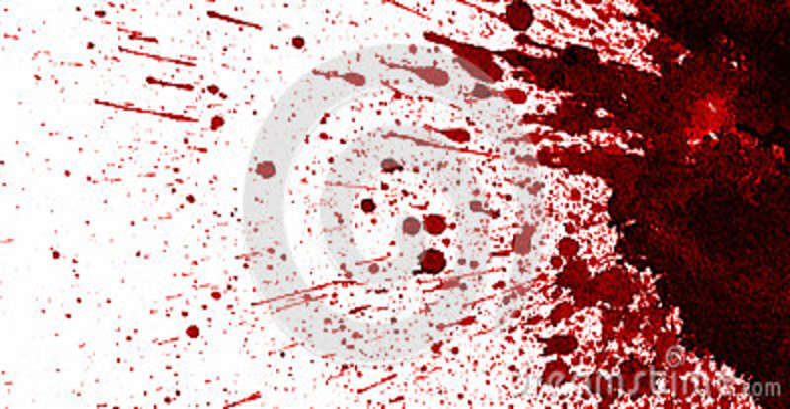 Tache de sang rouge sur le blanc