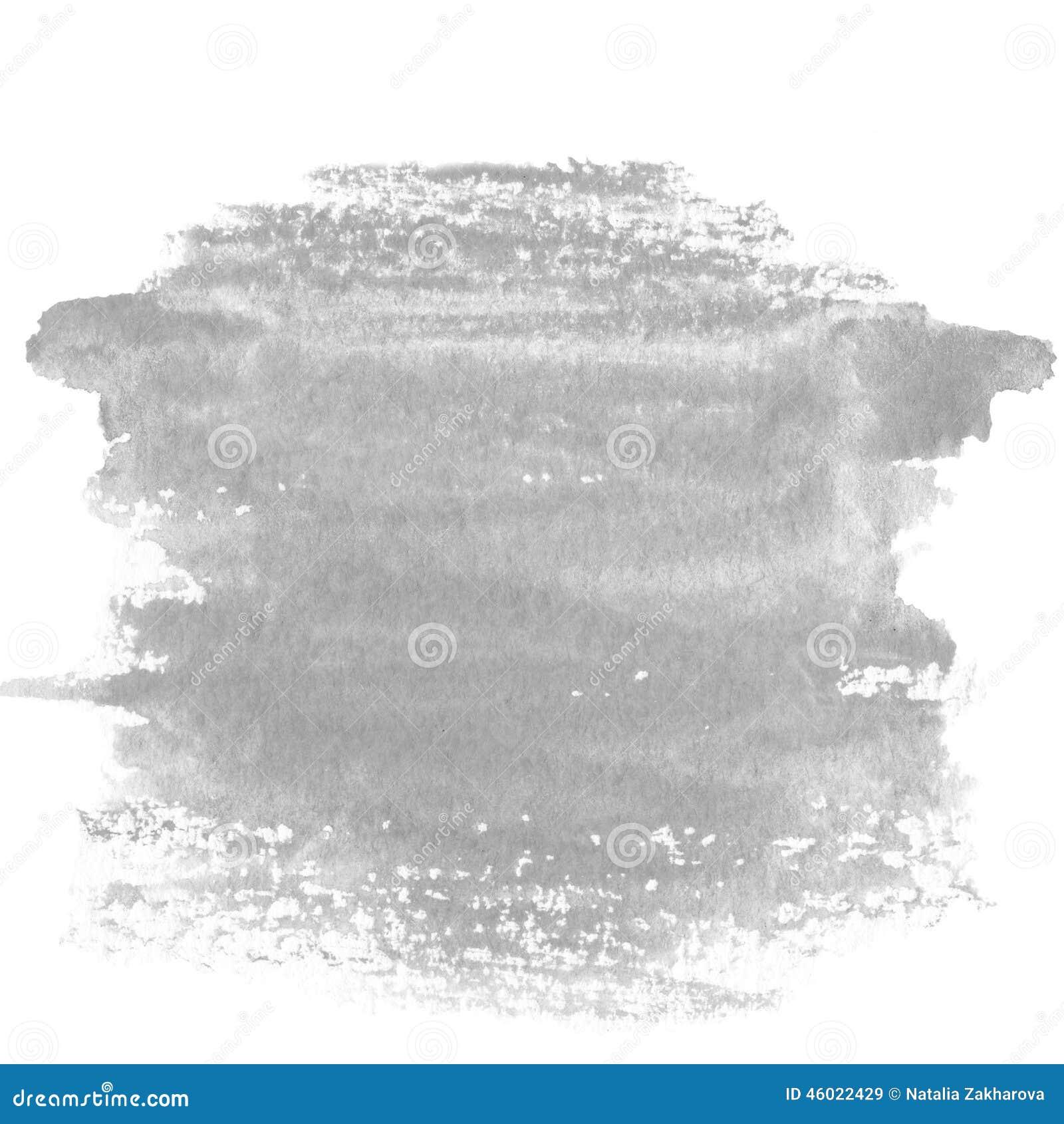 Tache grise, fond texturisé peint à la main abstrait d