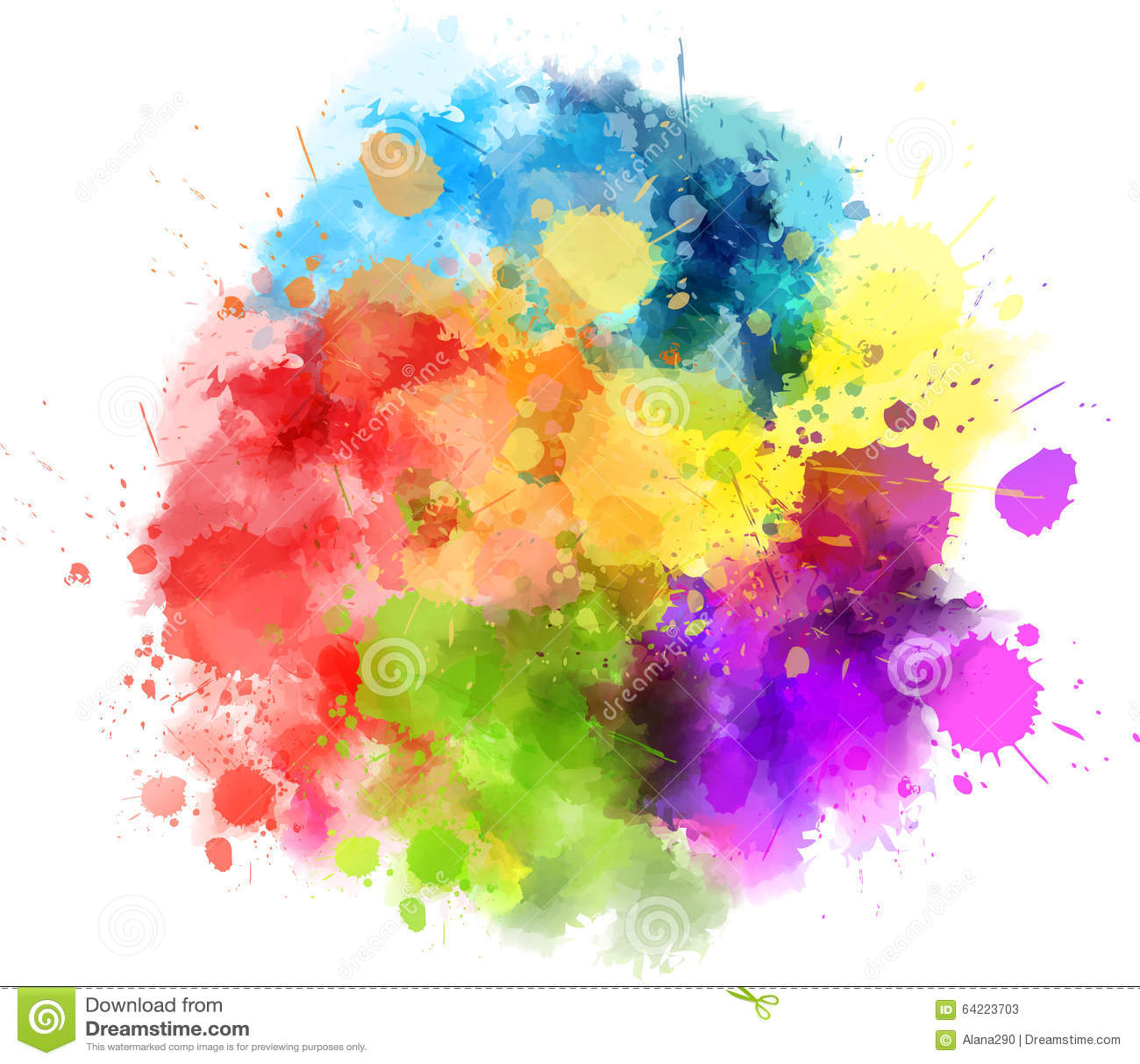 tache multicolore illustration de vecteur illustration du couleur 64223703. Black Bedroom Furniture Sets. Home Design Ideas