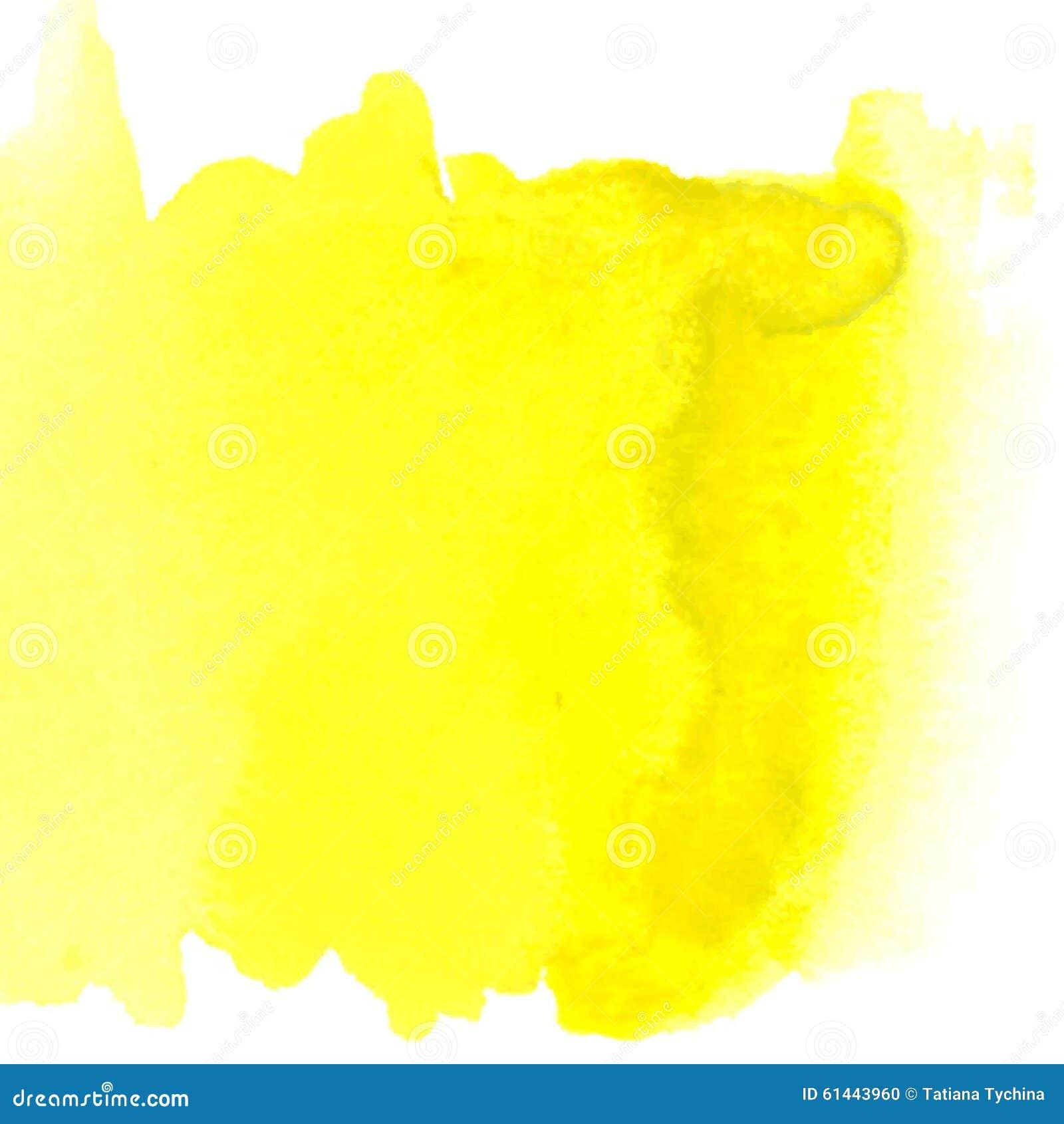 tache peinte par aquarelle jaune abstraite illustration de vecteur image 61443960. Black Bedroom Furniture Sets. Home Design Ideas