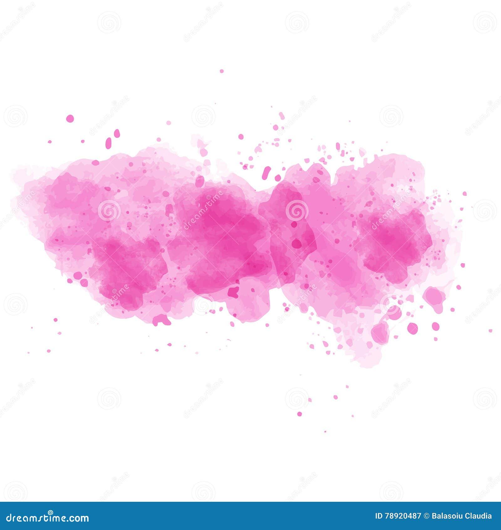 tache peinte par aquarelle rose sur le fond blanc illustration stock illustration du main. Black Bedroom Furniture Sets. Home Design Ideas
