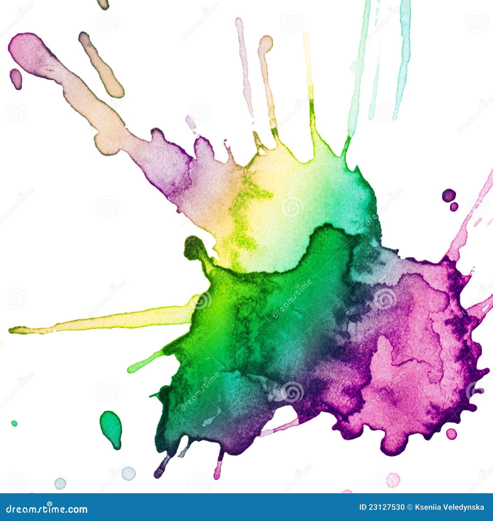 Tache tirée par la main abstraite d aquarelle