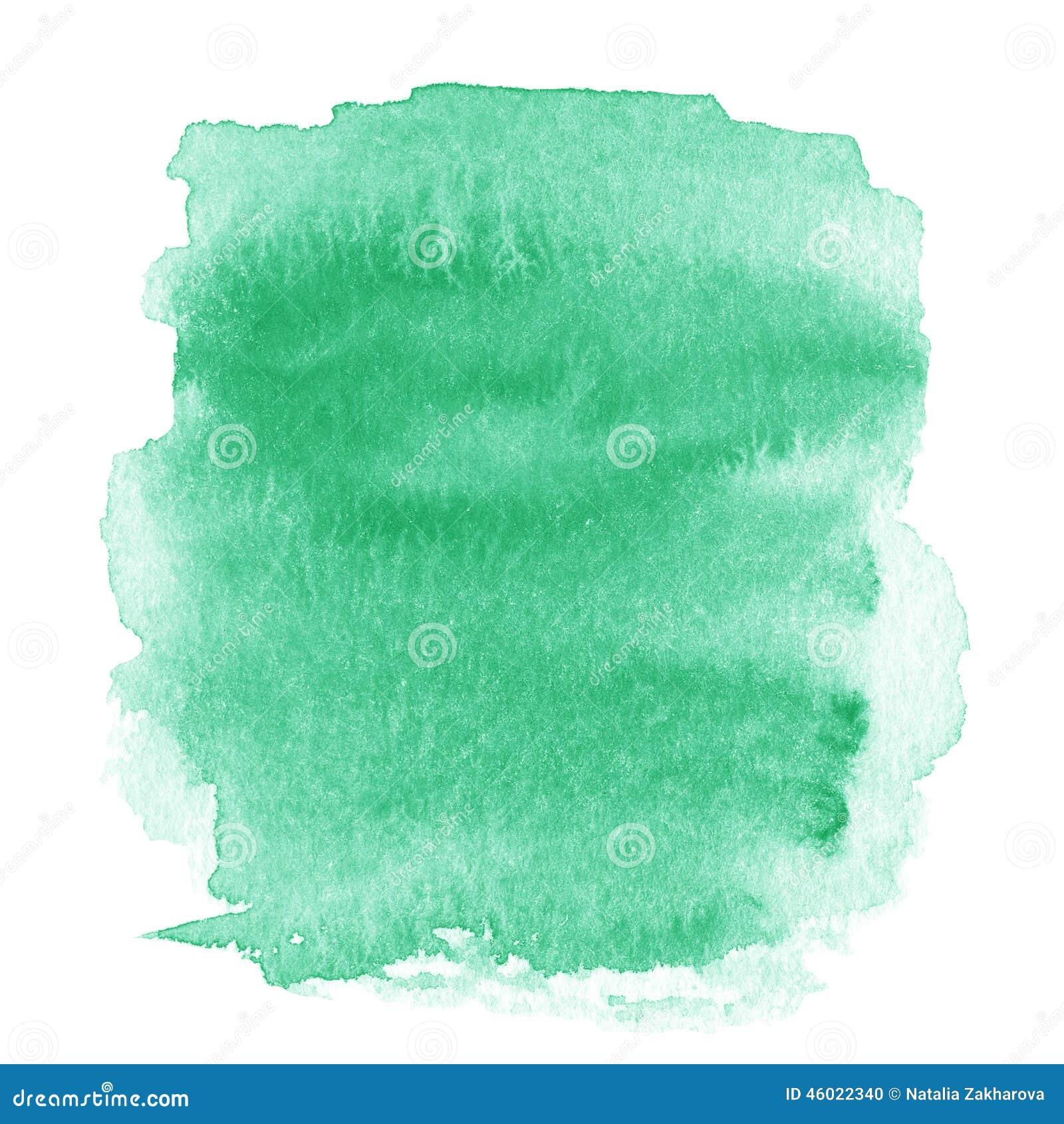 Tache vert clair, Ba texturisé peint à la main abstrait d aquarelle