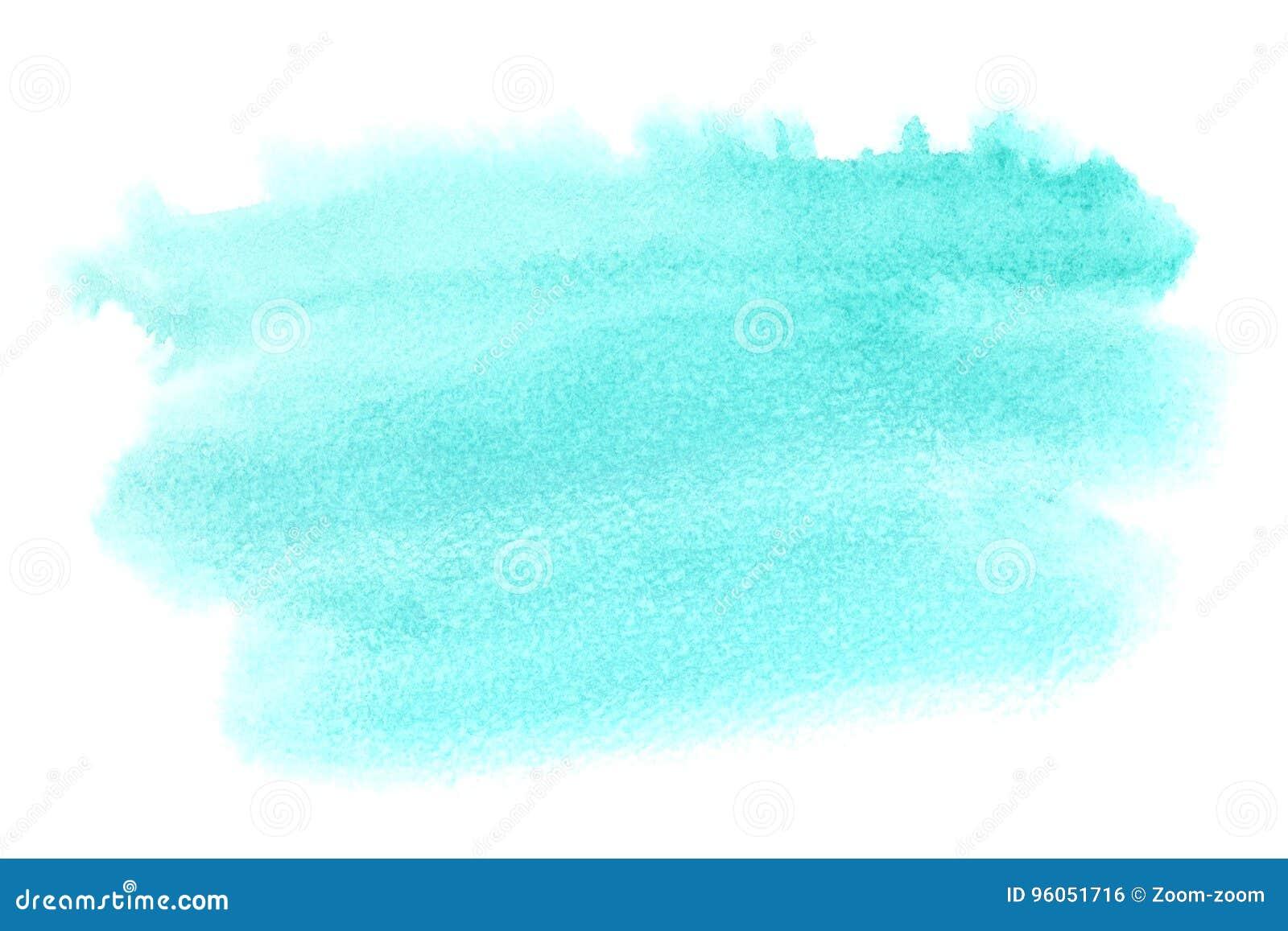 Tache vert clair d aquarelle