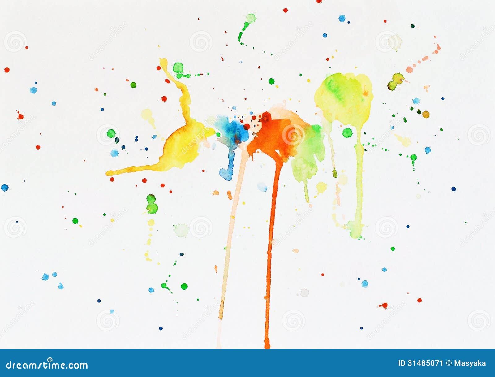 taches de peinture d 39 aquarelle sur un livre blanc image stock image 31485071. Black Bedroom Furniture Sets. Home Design Ideas