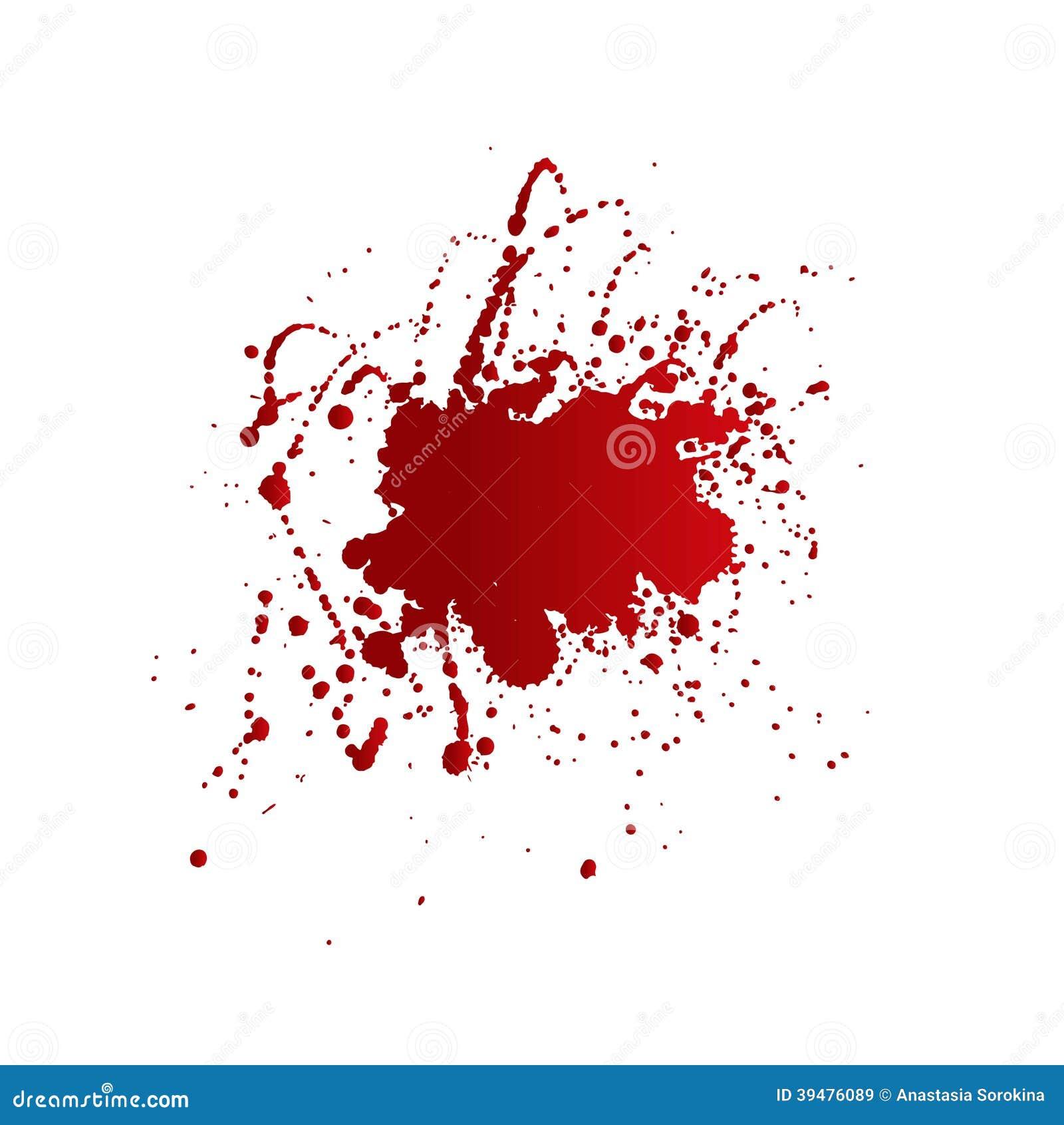 Taches de sang d 39 isolement sur le fond blanc illustration de vecteur image 39476089 - Tache de sang sur vetement ...