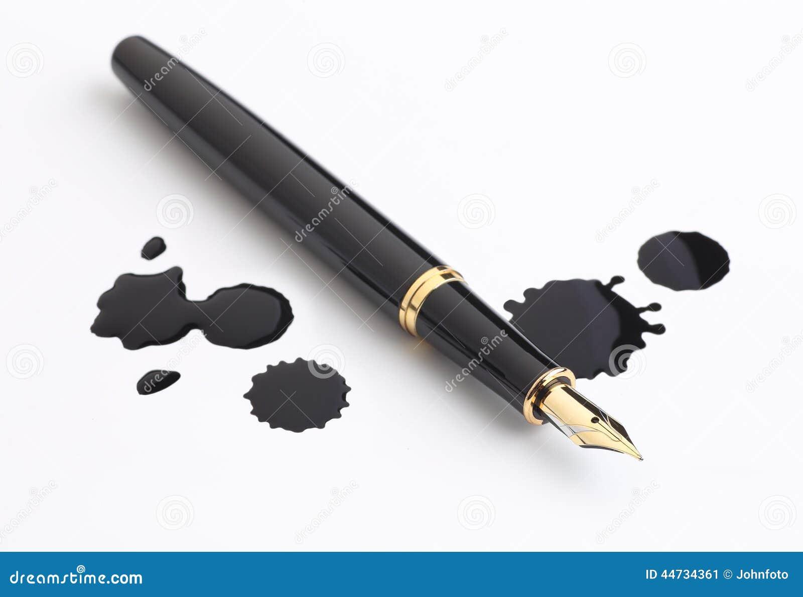 taches de stylo plume et d 39 encre image stock image 44734361. Black Bedroom Furniture Sets. Home Design Ideas