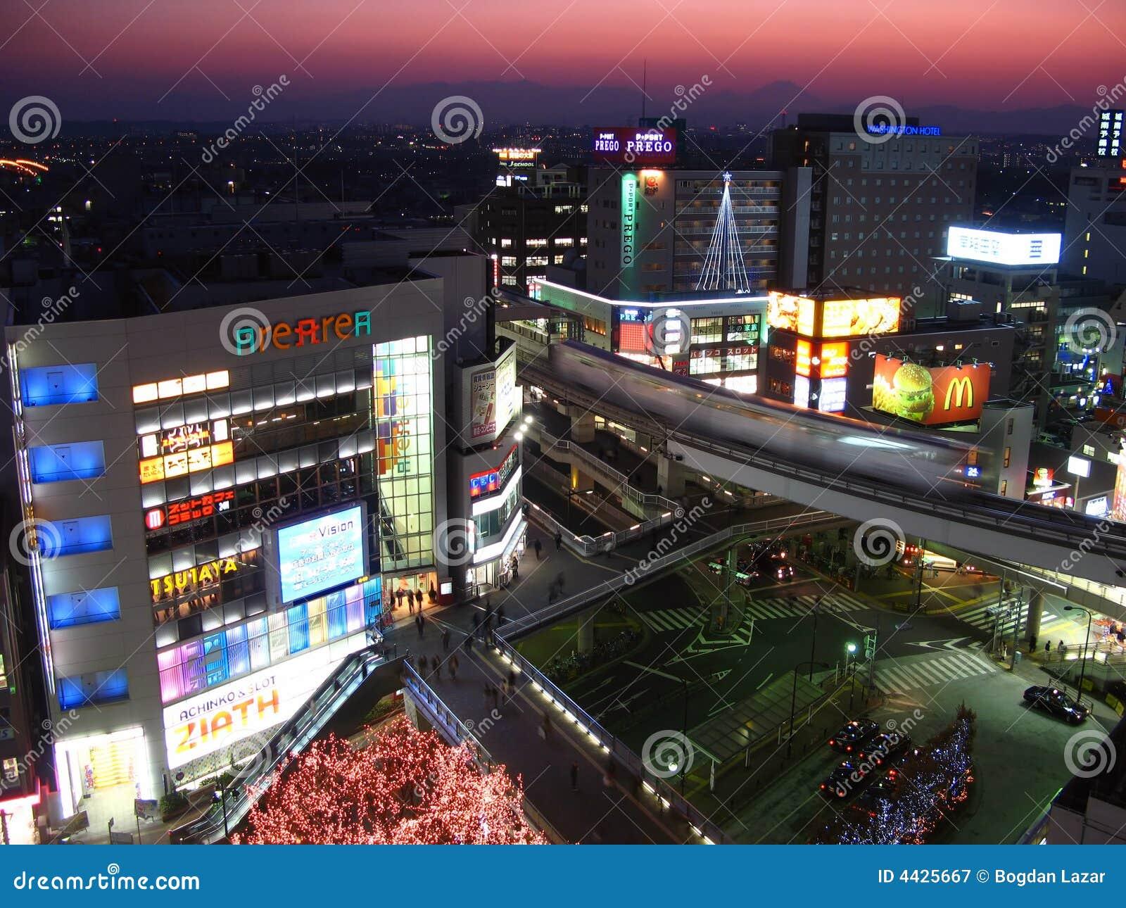Tachikawa At Twilight Tokyo Japan Editorial Photography Image 4425667