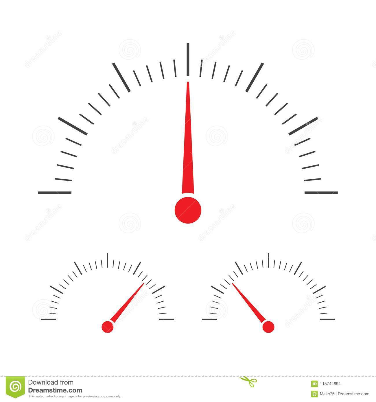 Tachometer Speedometer And Indicator Icon Stock Vector