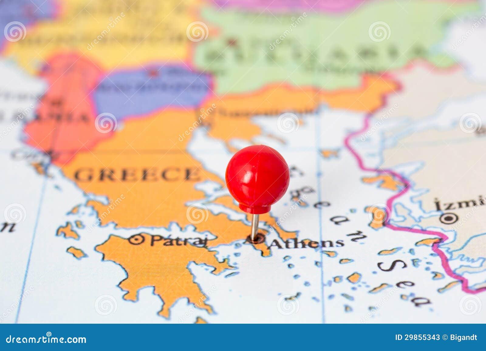 Pasador Ubicación Mapa Gráficos Vectoriales Gratis En: Pasador Rojo En El Mapa De Grecia