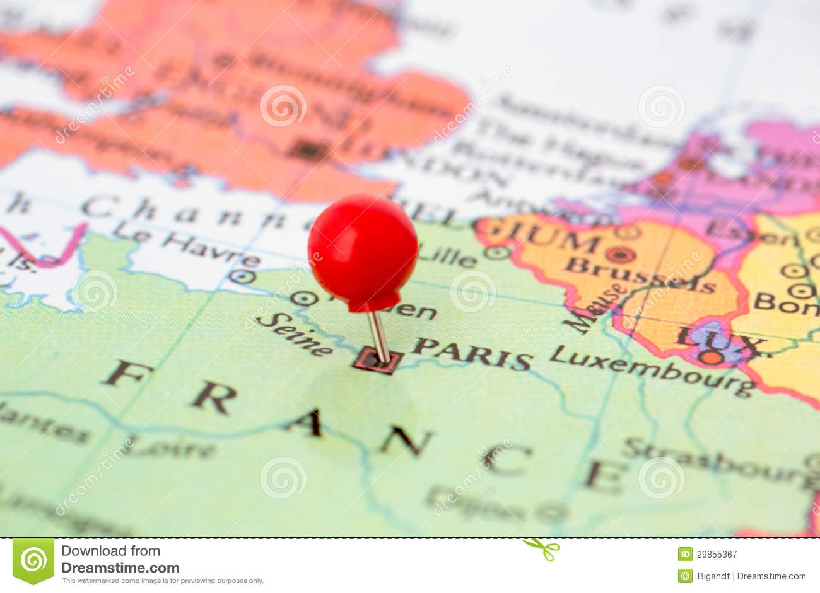 Pasador Ubicación Mapa Gráficos Vectoriales Gratis En: Pasador Rojo En El Mapa De Francia Fotografía De Archivo