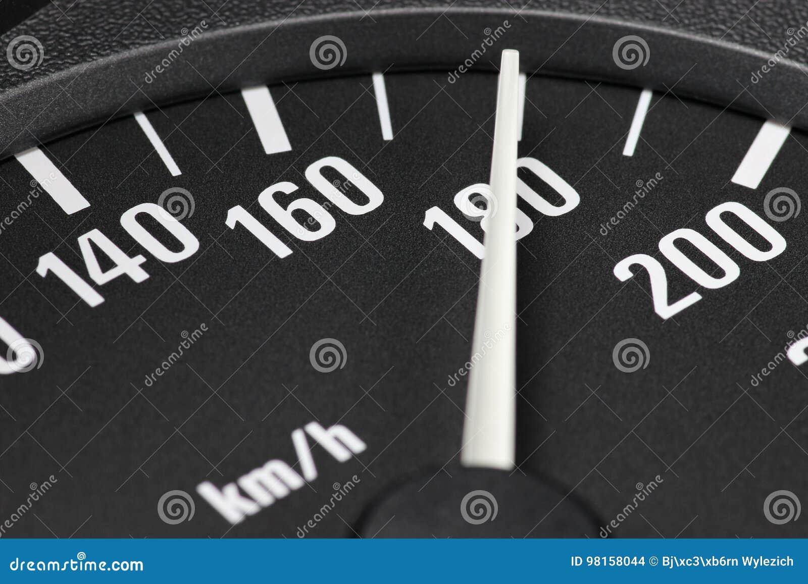 Tachymètre à 180 km/h