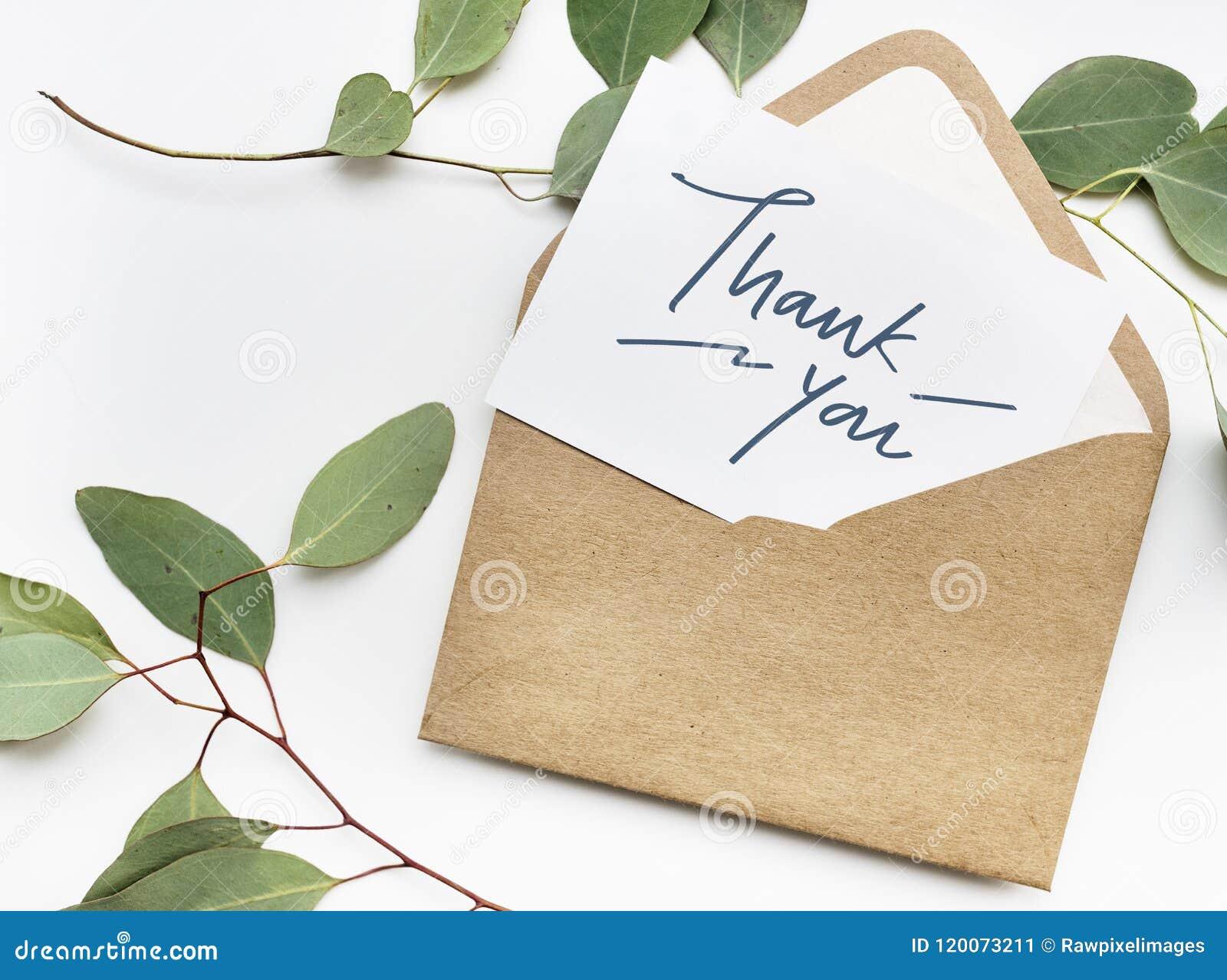 Tacka dig att card i ett kuvert