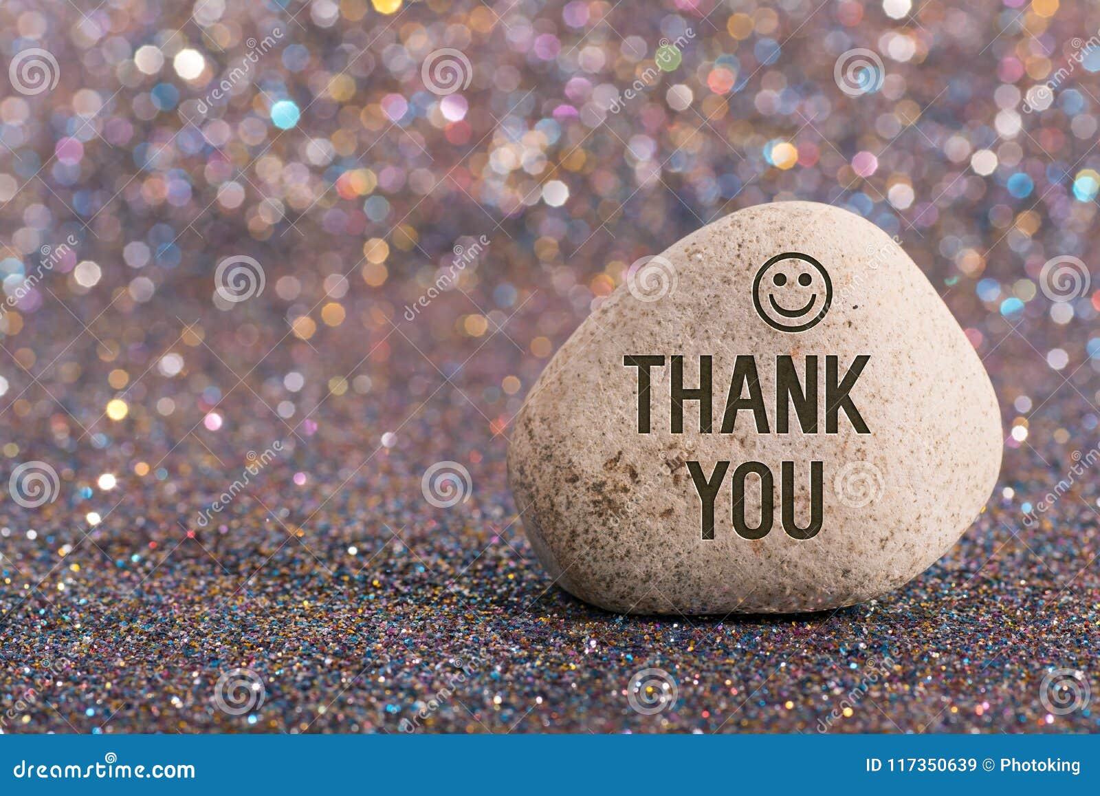 Tacka dig på stenen