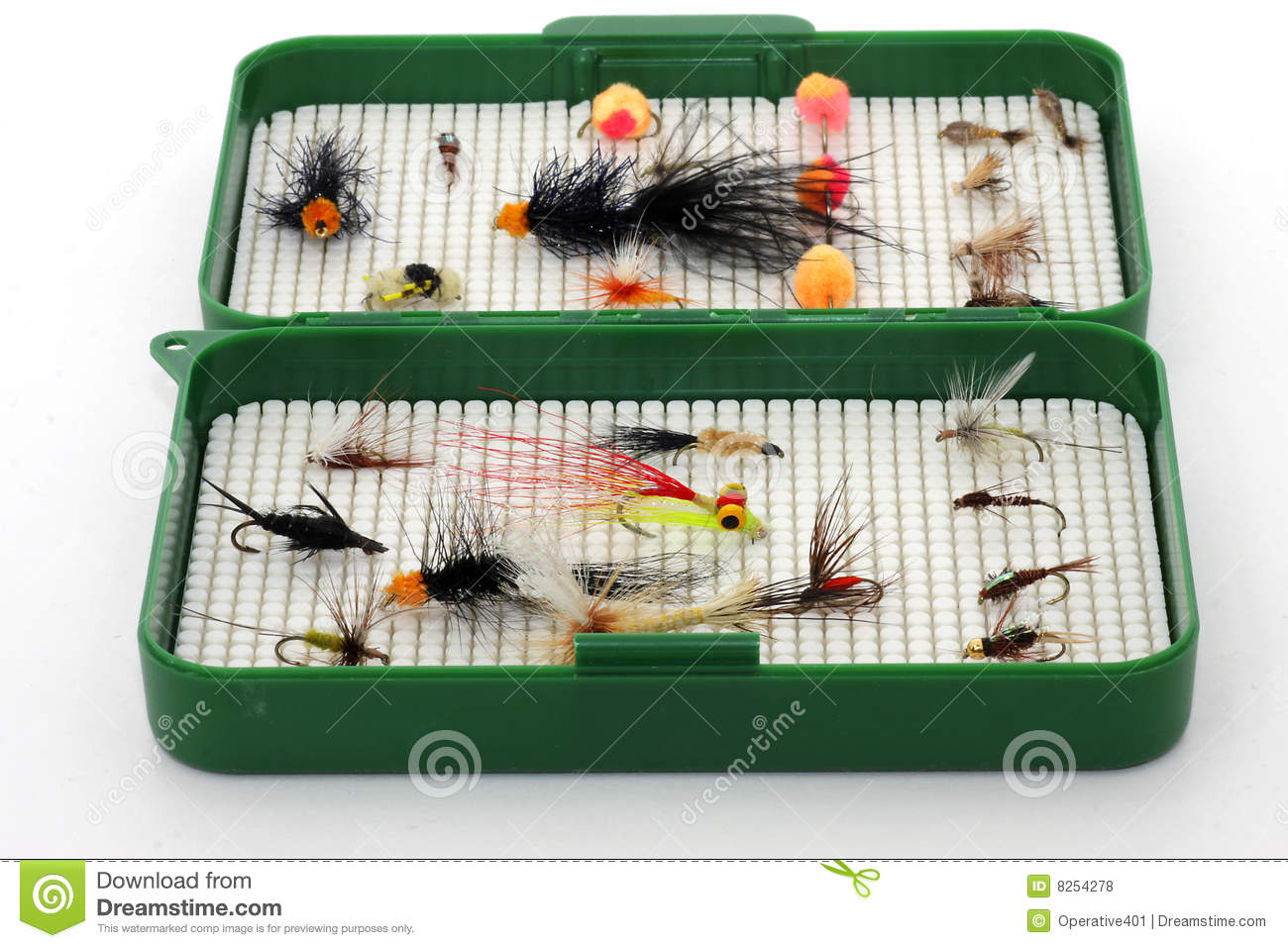 Tackle box for fly fishing royalty free stock photos for Fly fishing subscription box