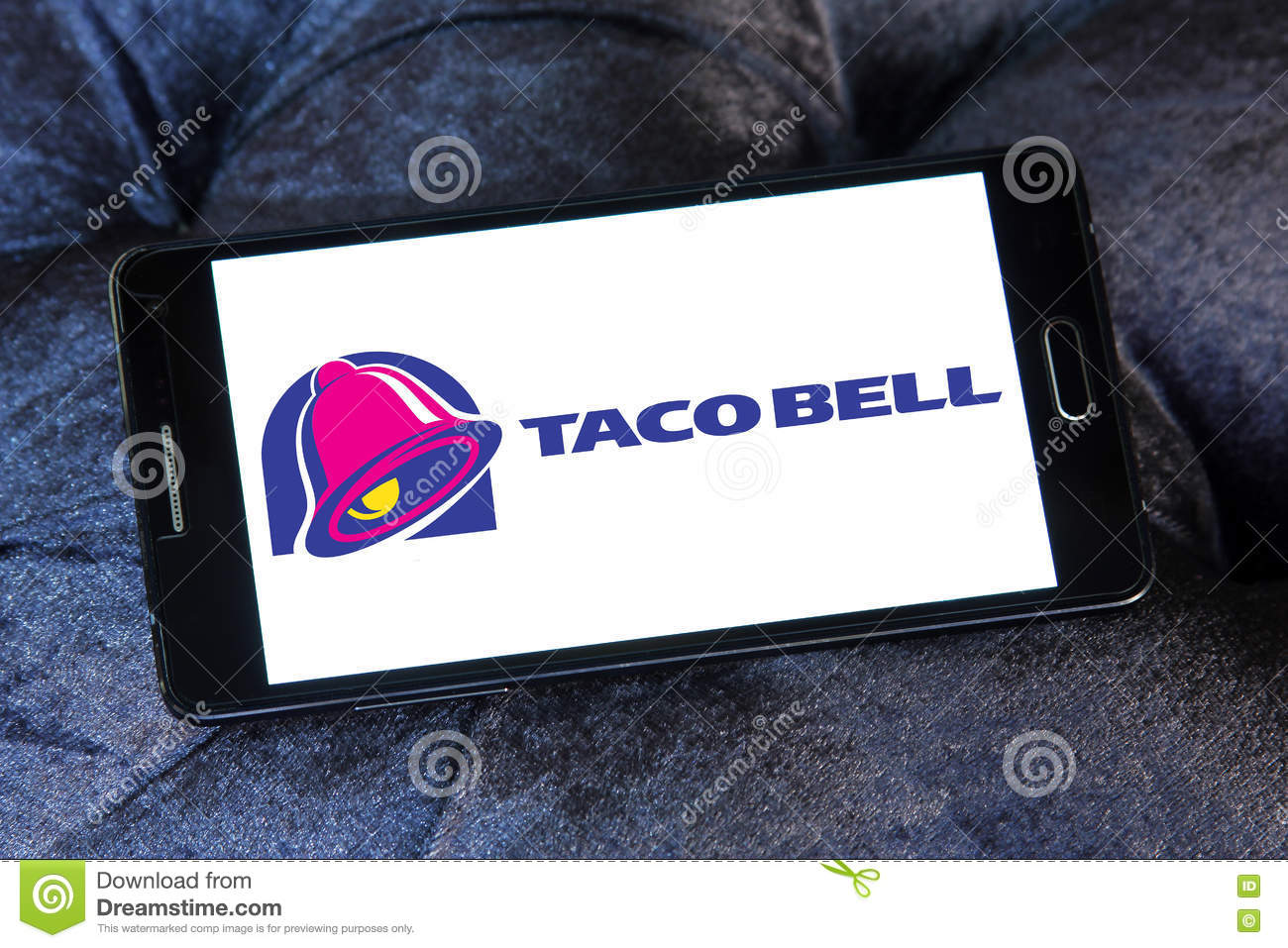 Taco bell fast food logo editorial stock image  Image of