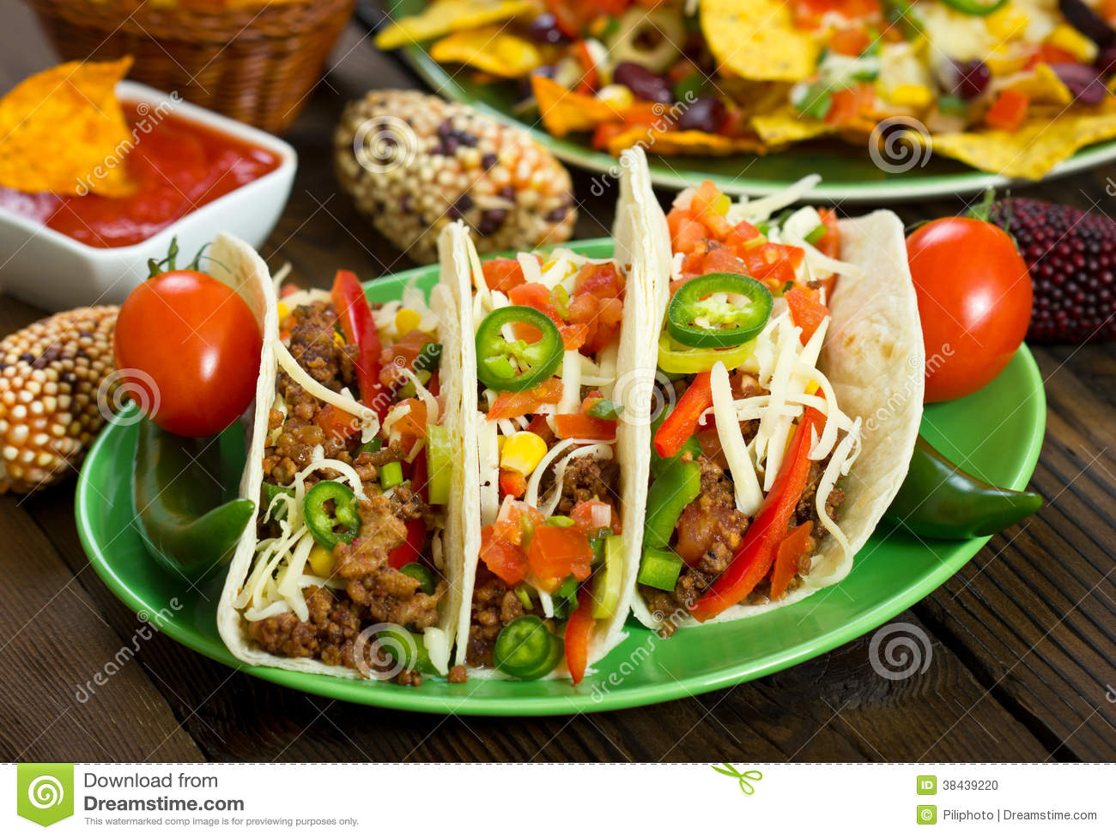 Taco de boeuf du plat