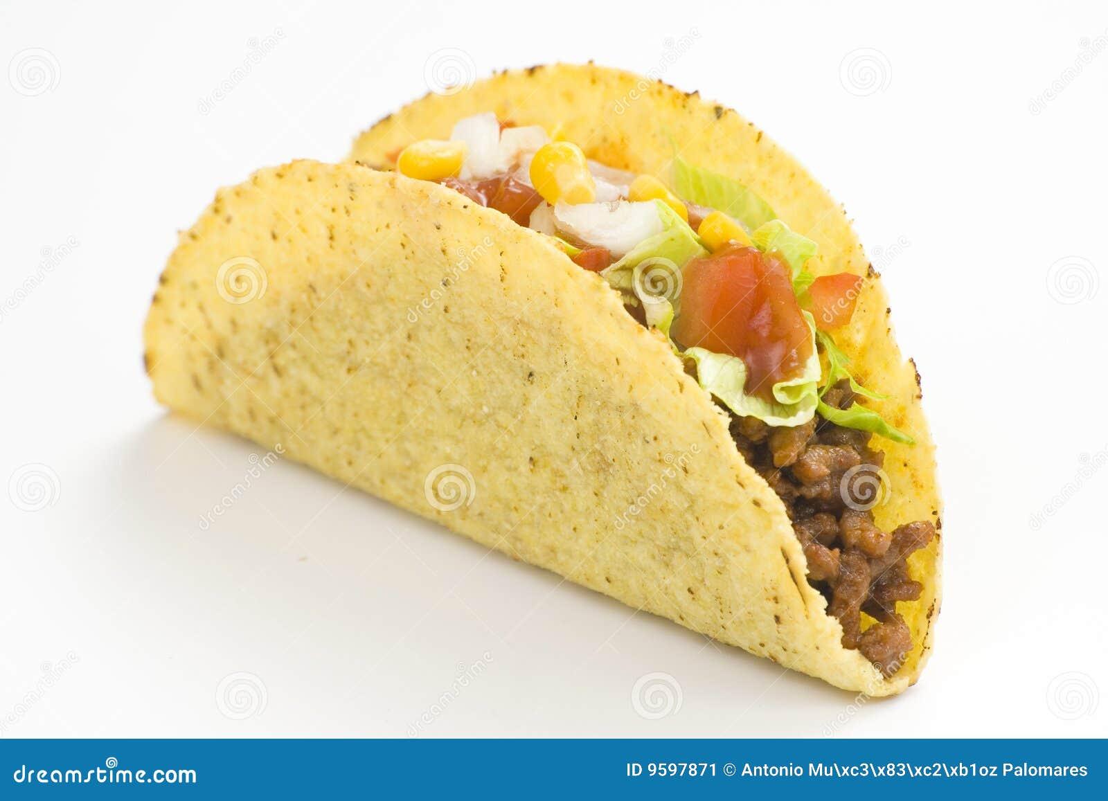 Taco delicioso, alimento mexicano