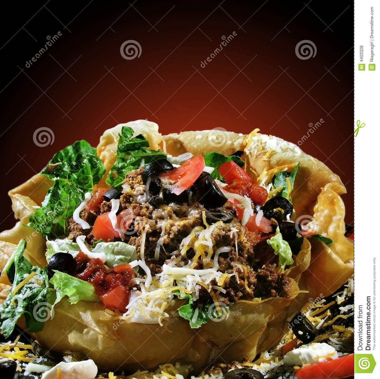 Taco Salad in Shell