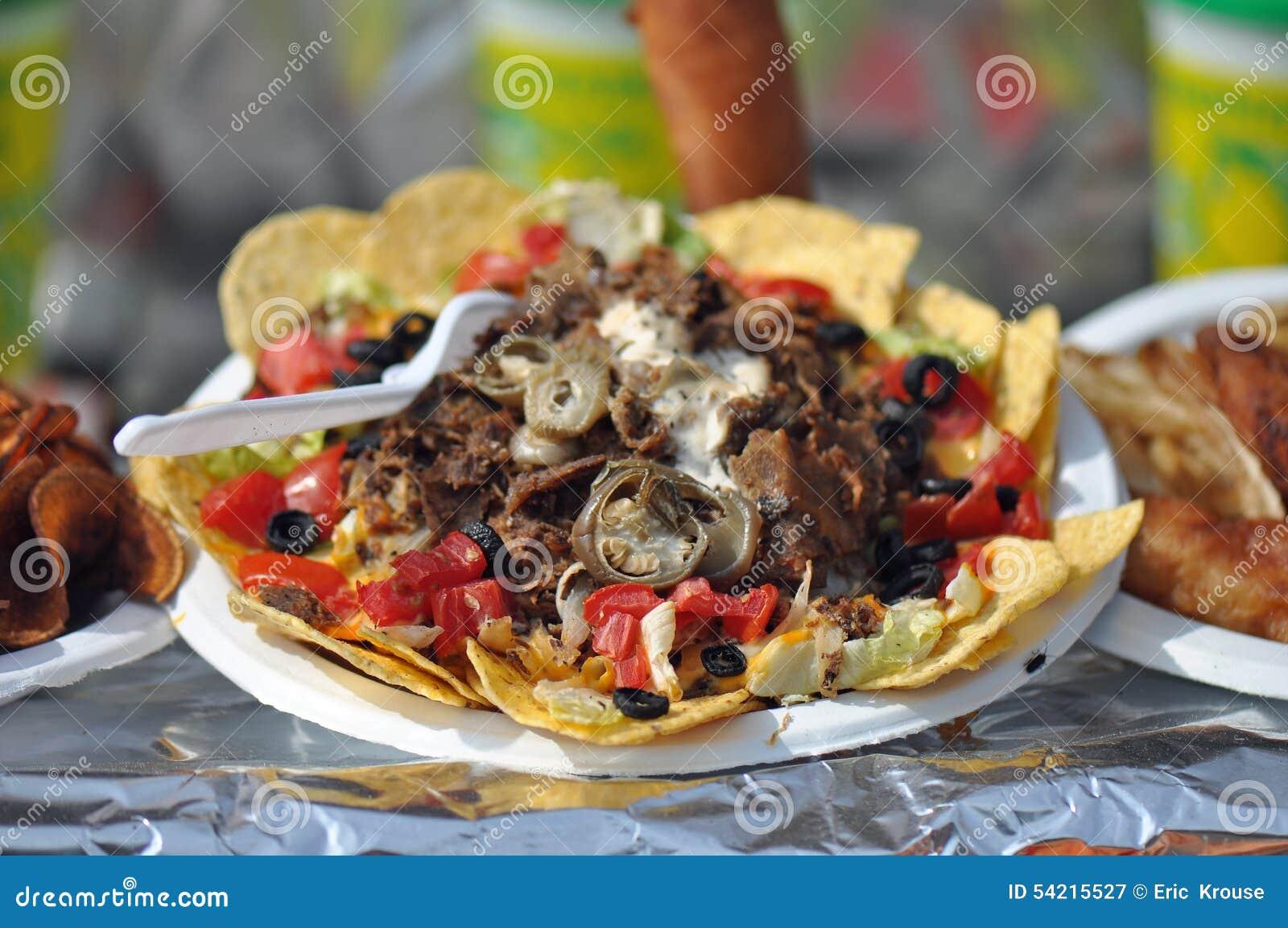 Taco Salat Strassen Lebensmittel Stockbild Bild Von Angemessen