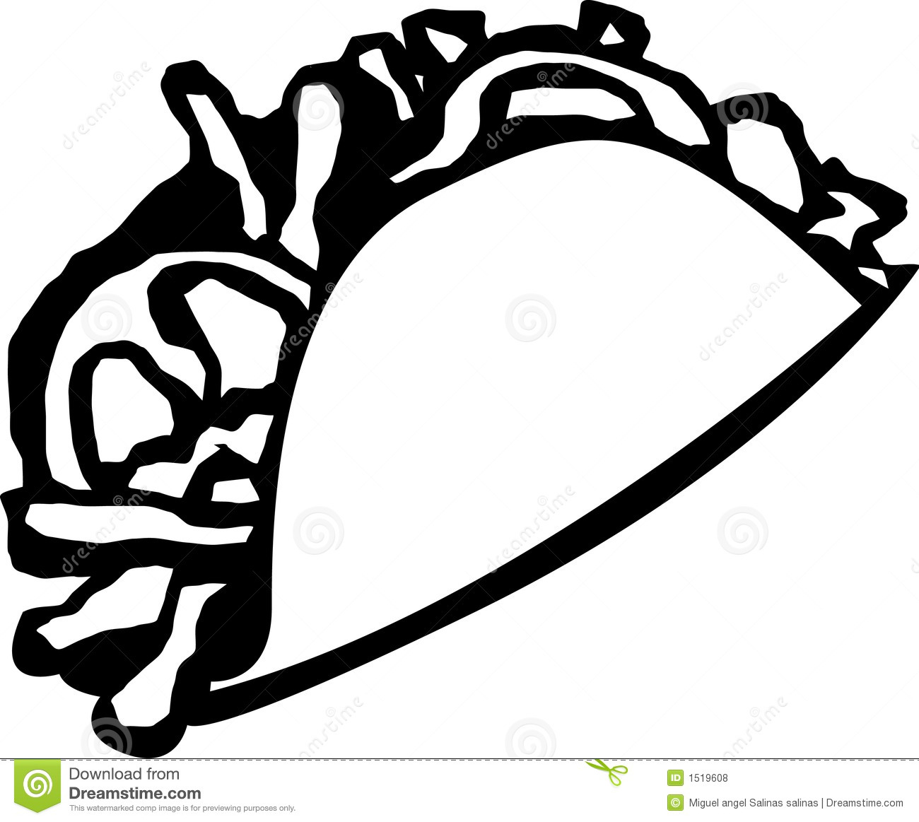 Taco Vector Illustration Royalty Free Stock Photos - Image: 1519608