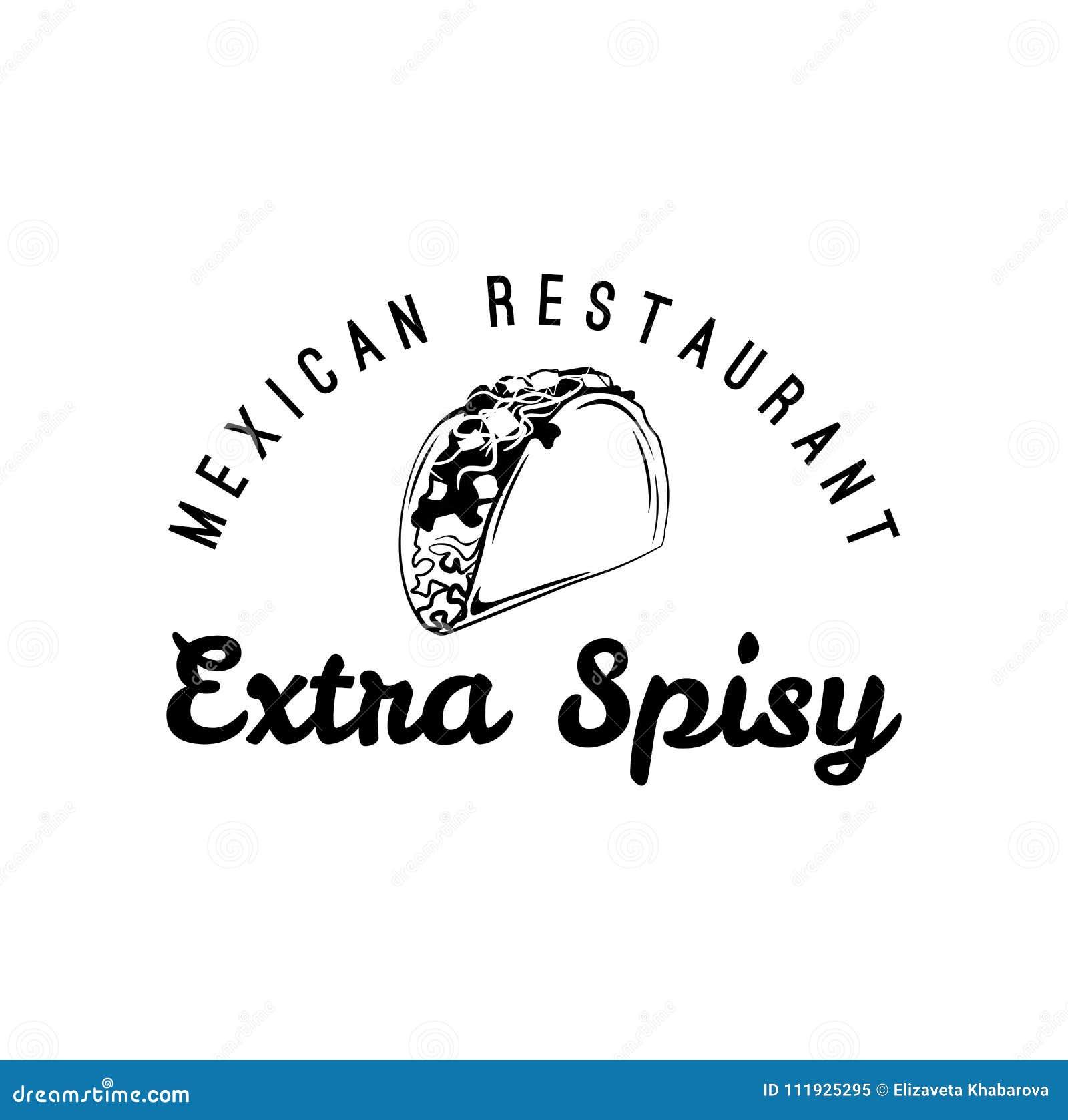 Tacos - μεξικάνικα παραδοσιακά τρόφιμα Διανυσματική εκλεκτής ποιότητας απεικόνιση