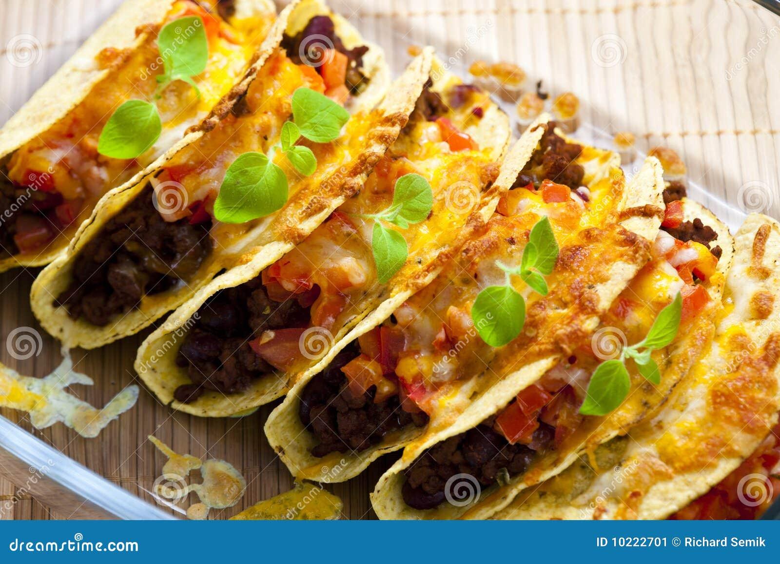Tacos cuit au four
