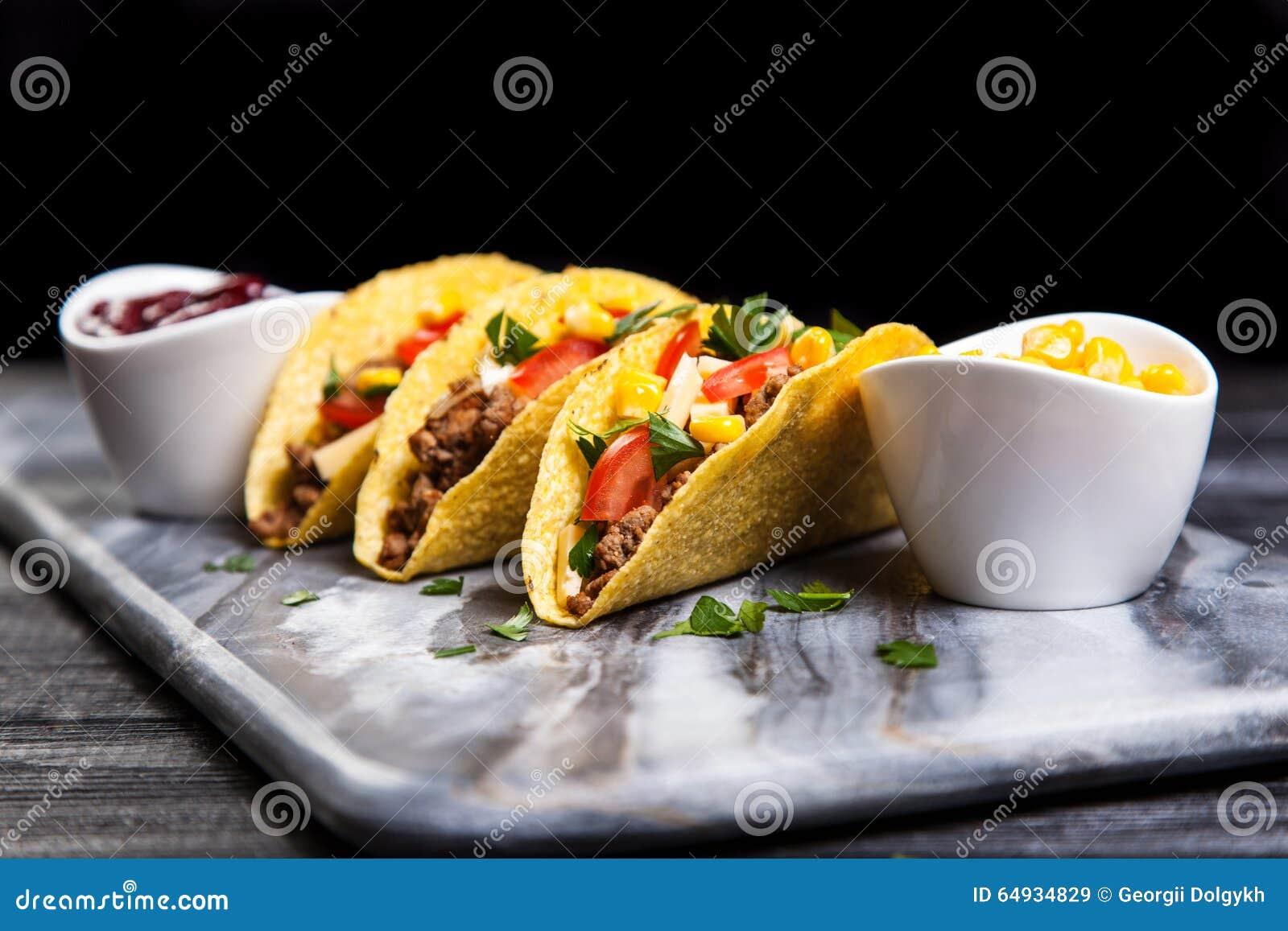 Tacos délicieux de boeuf