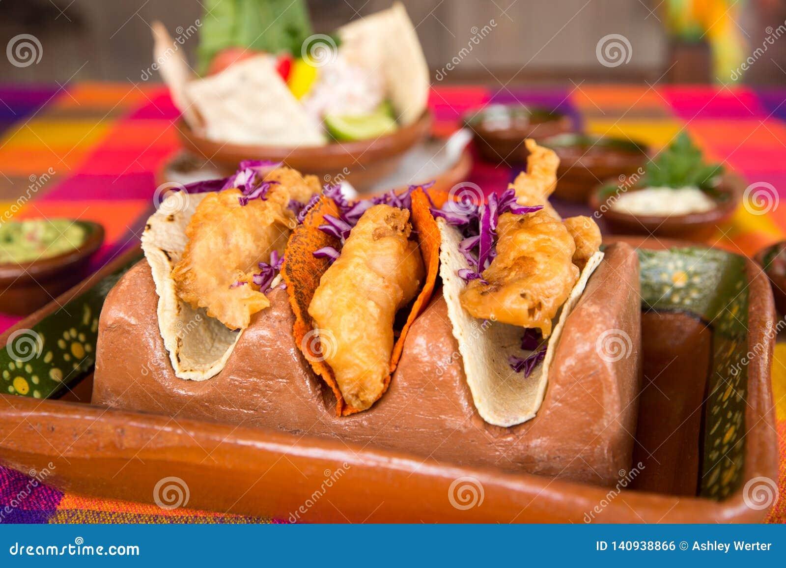 Tacos de poissons croustillant pour le déjeuner