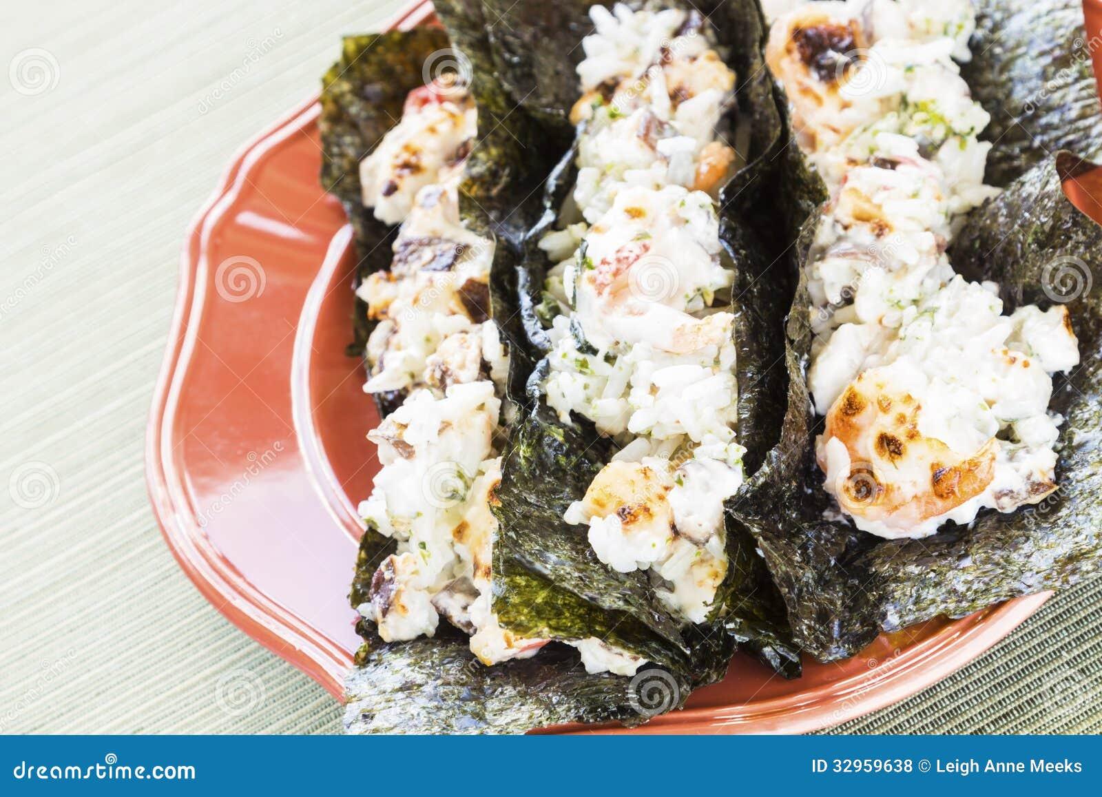 Tacos de sushi grillé par Hawaïen