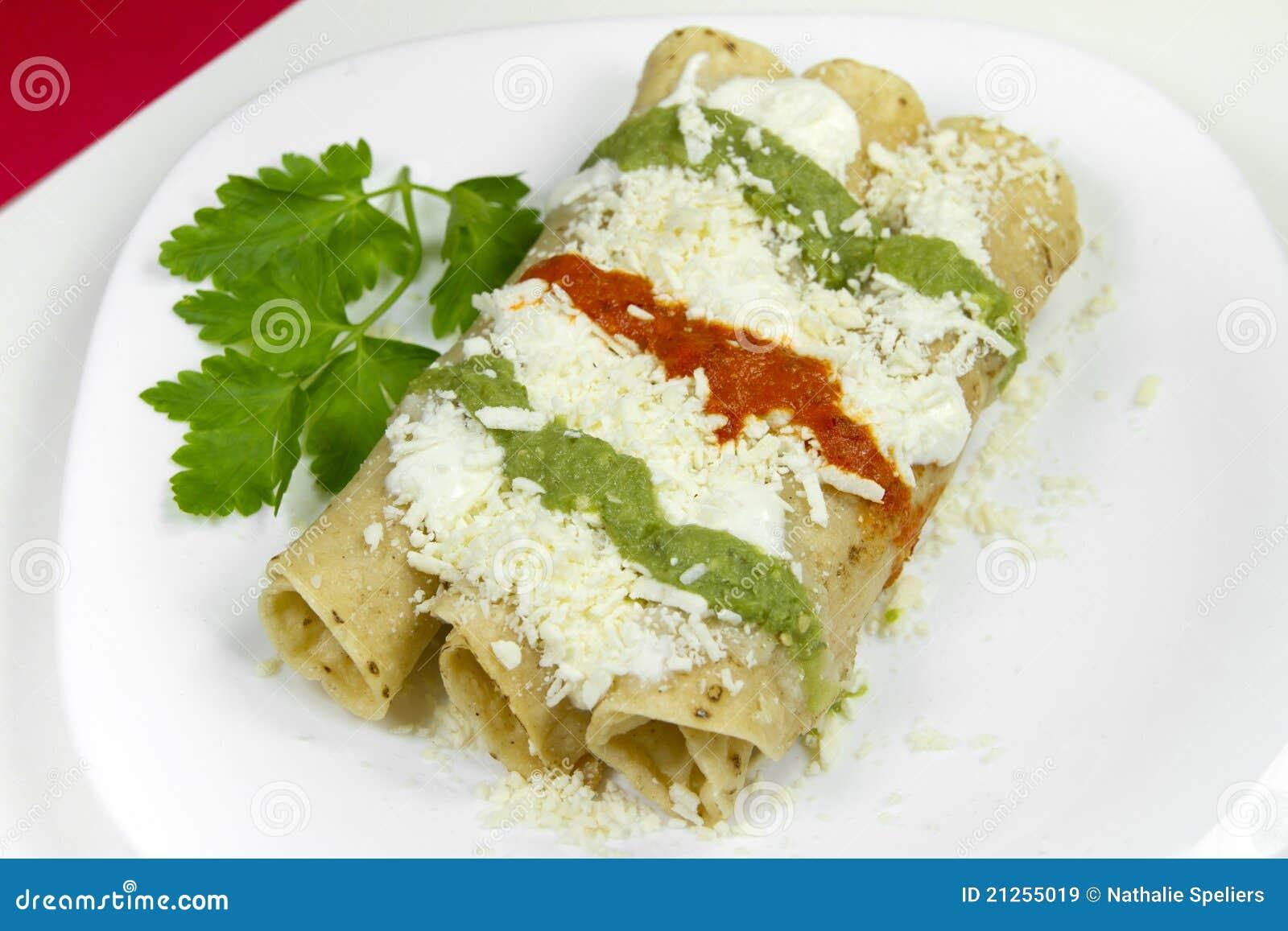 Dorados Image: Tacos Dorados Mexican Dish Royalty Free Stock Images