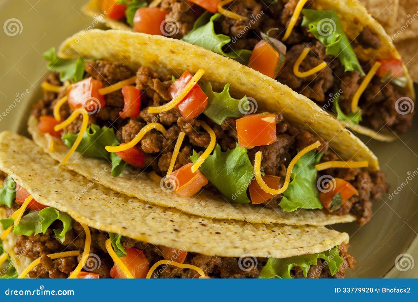 Tacos Fait Maison De Boeuf Haché Photo stock - Image: 33779920