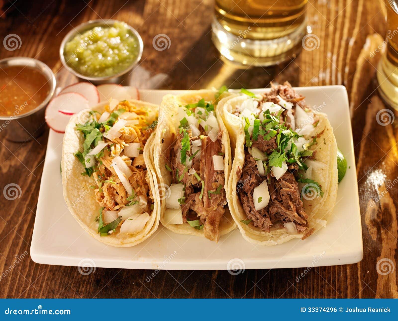 Tacos made in authentic mexican style stock photo image - Tacos mexicanos de pollo ...
