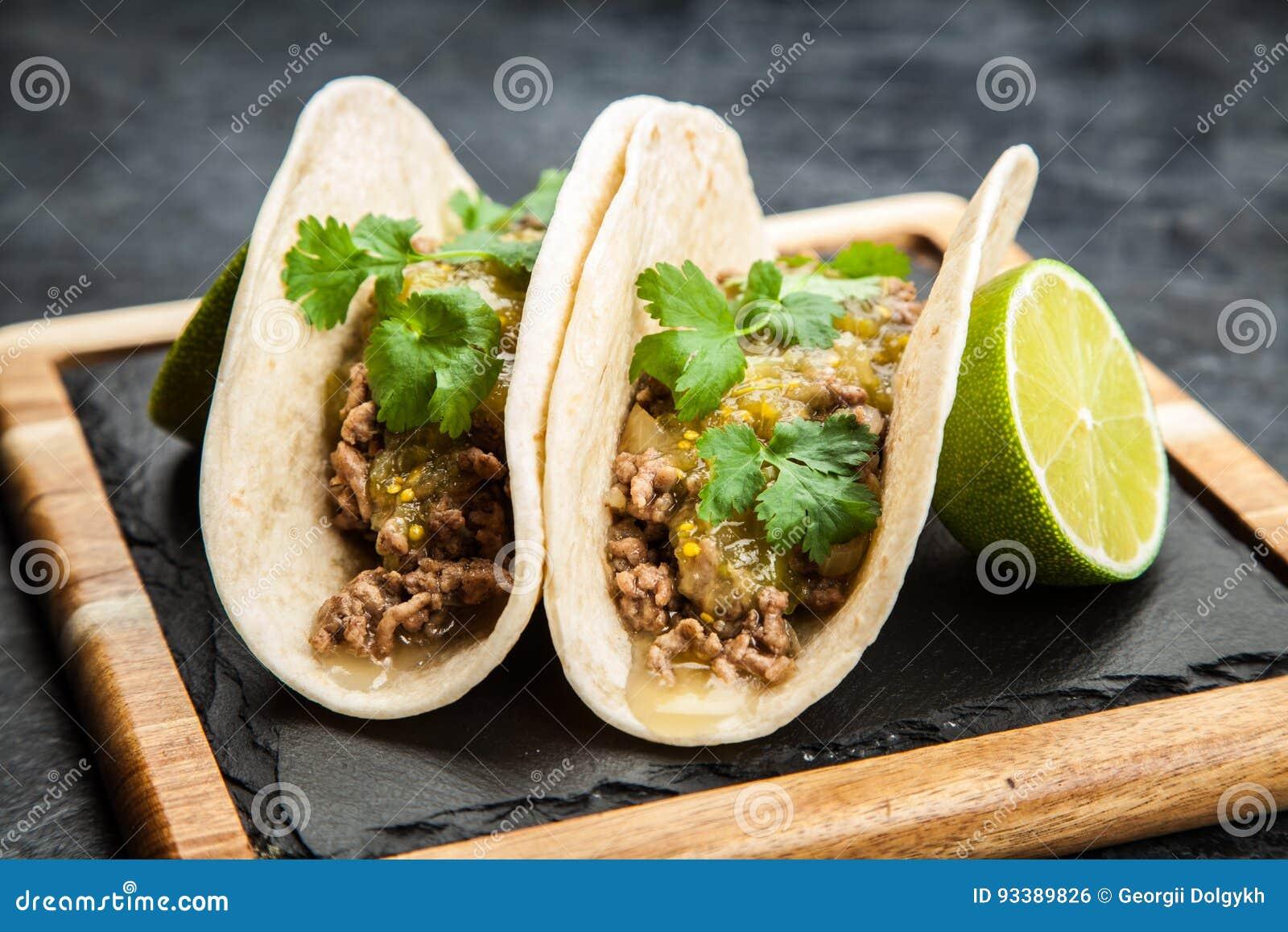 Tacos mexicain avec du boeuf