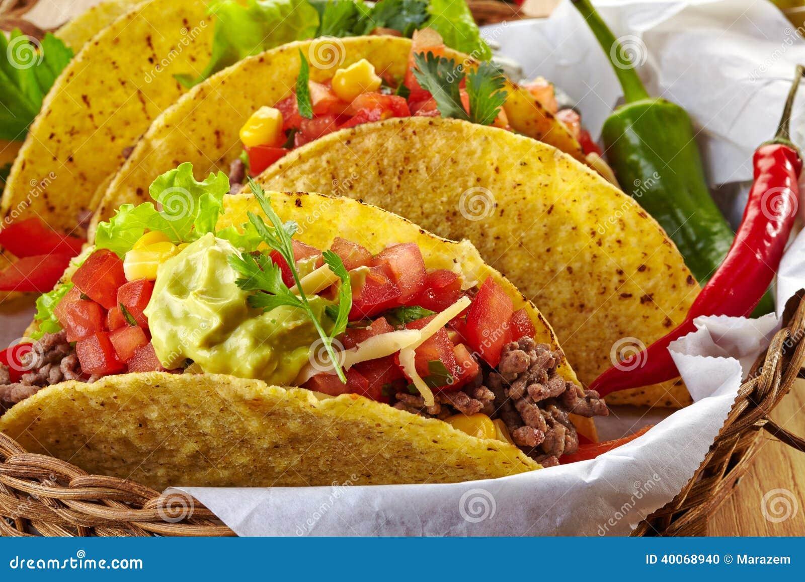 Tacos mexicain de nourriture