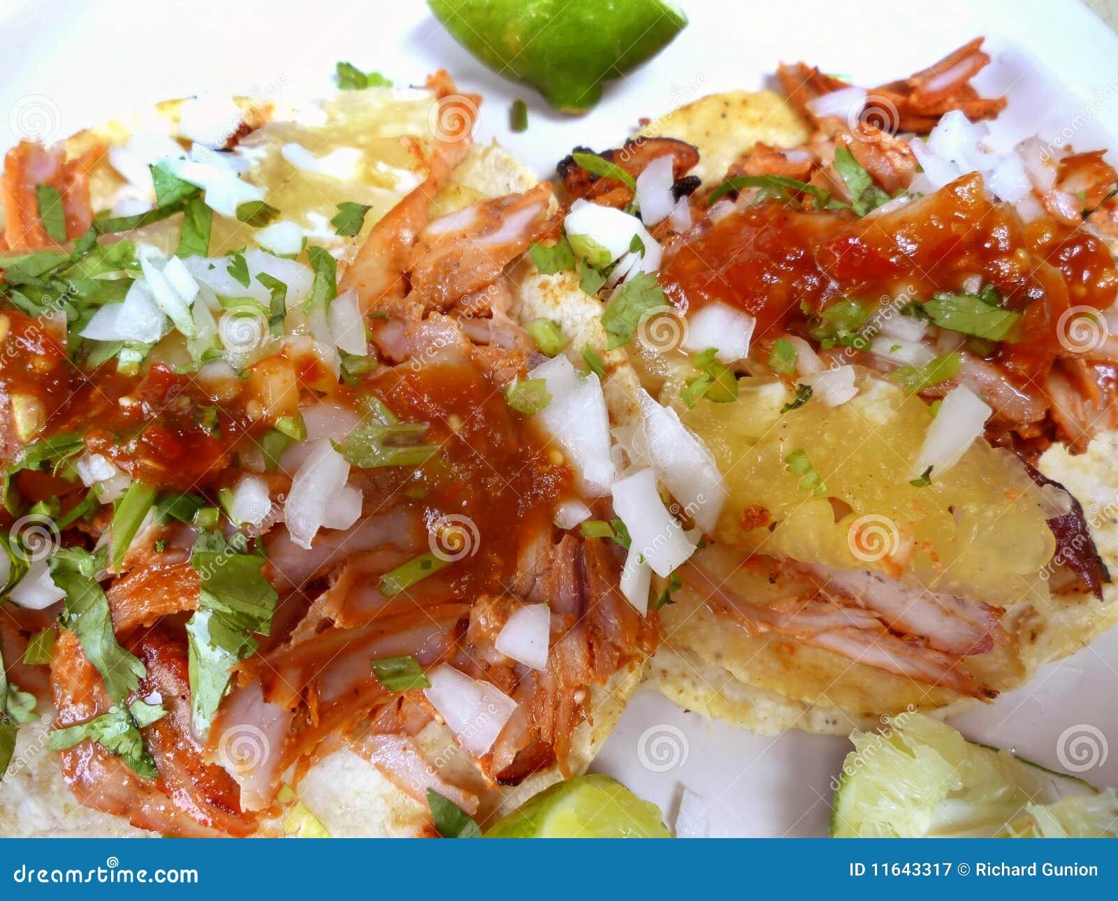 Tacos mexicain de Nourriture-Porc