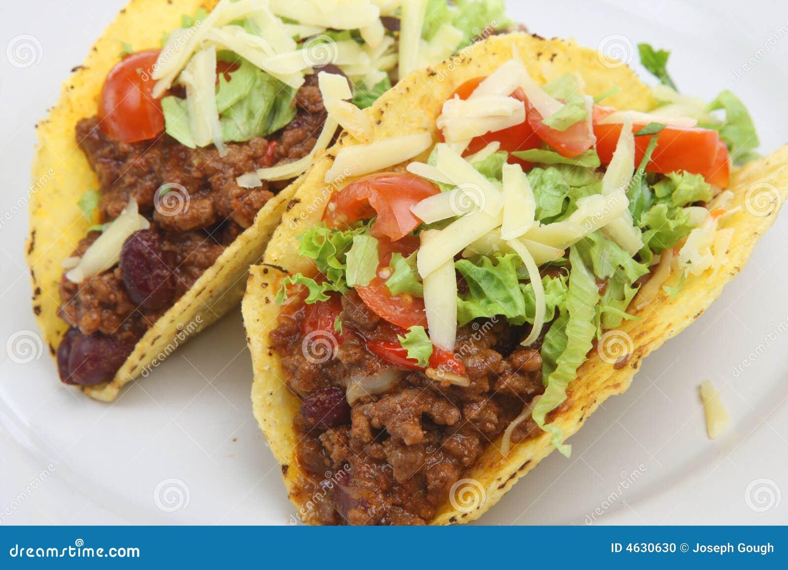 Tacos mexicano da carne dos pimentões