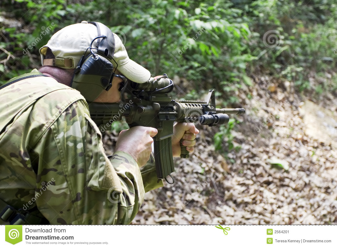 Tactical Shooting Stock Image Image Of Wearing Concept 2564201
