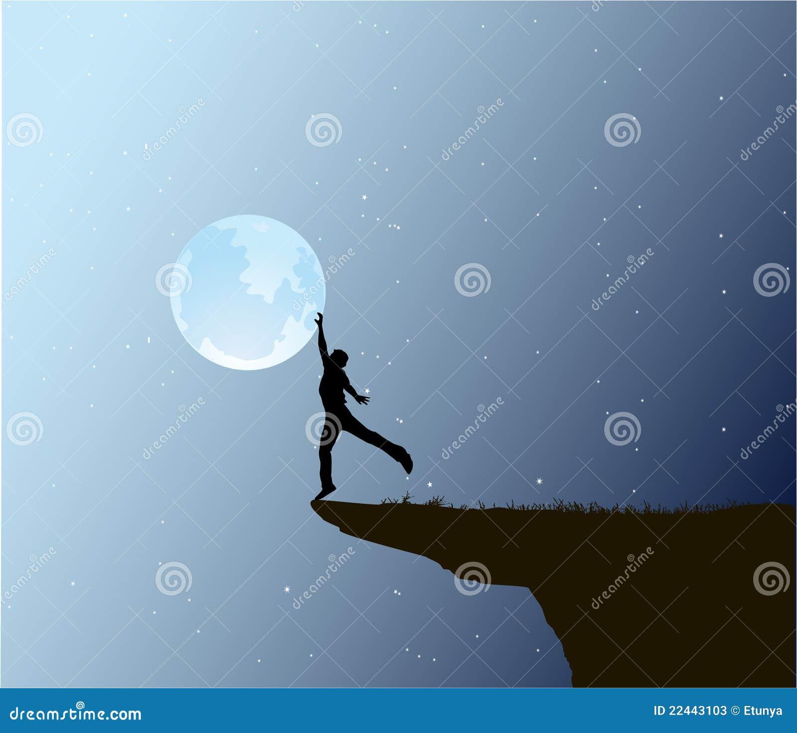 Tacto del hombre la luna