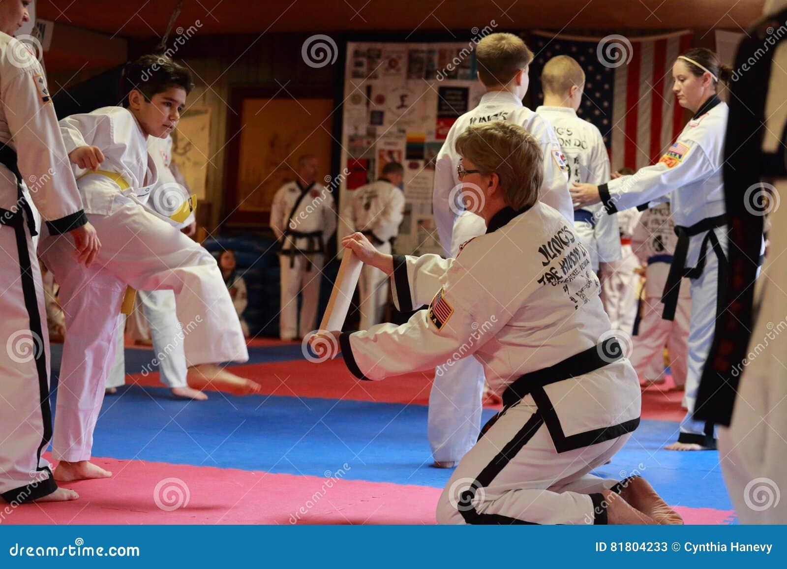Tae Kwon Do test in Cedar Rapids, Iowa.